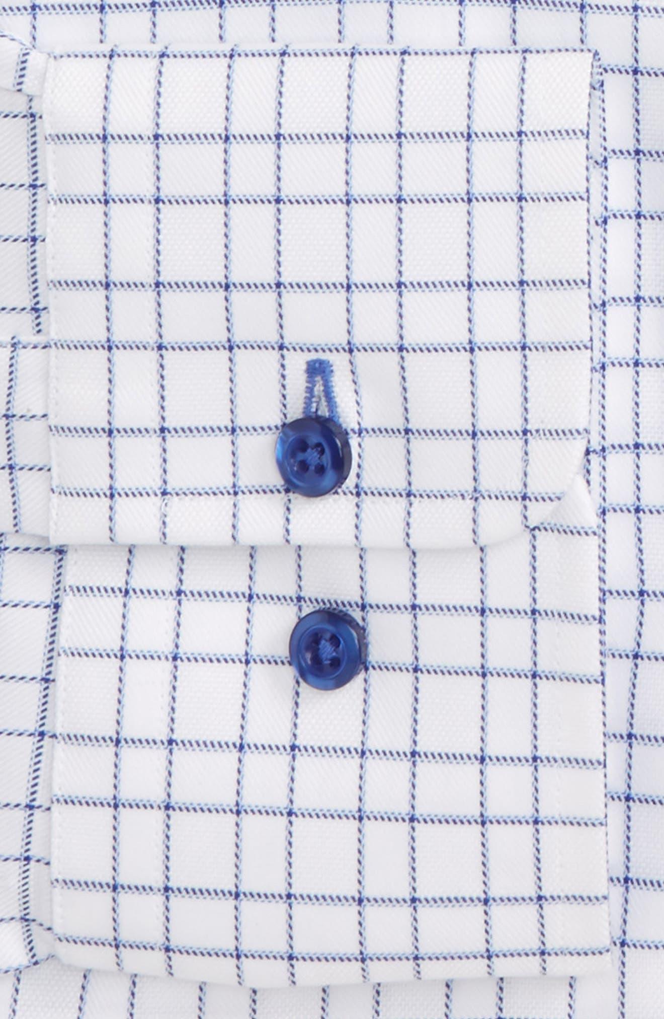 Trim Fit Check Dress Shirt,                             Alternate thumbnail 2, color,                             423