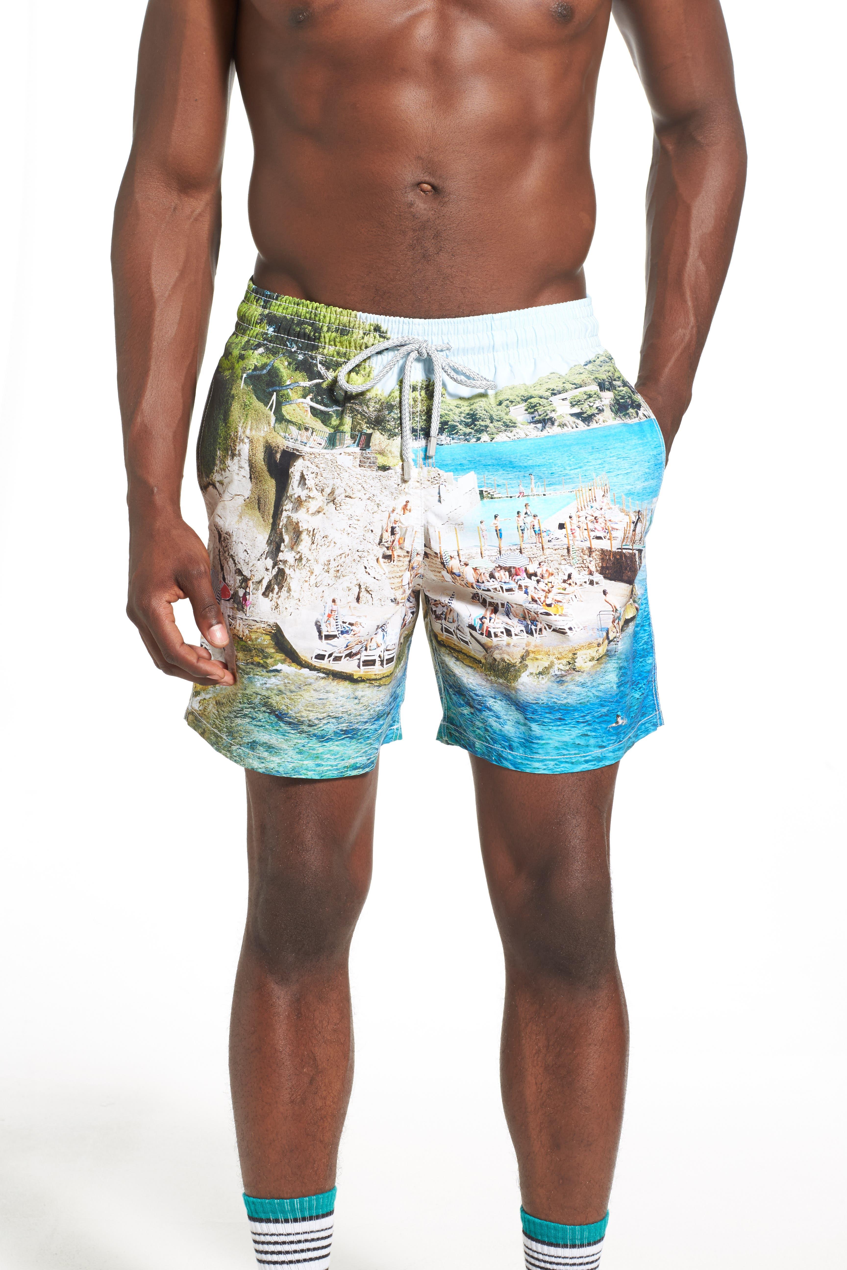 'Massimo Vitali Moorea' Swim Trunks,                             Alternate thumbnail 5, color,                             400