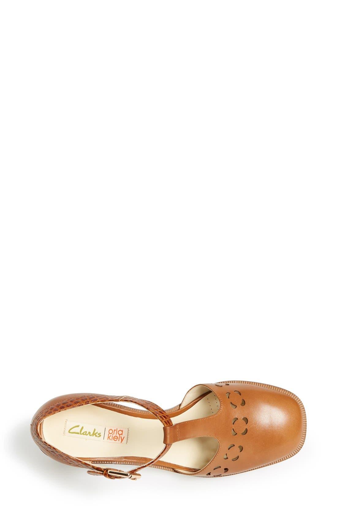 Clarks<sup>®</sup> x Orla Kiely 'Bibi' Leather T-Strap Sandal,                             Alternate thumbnail 2, color,                             200