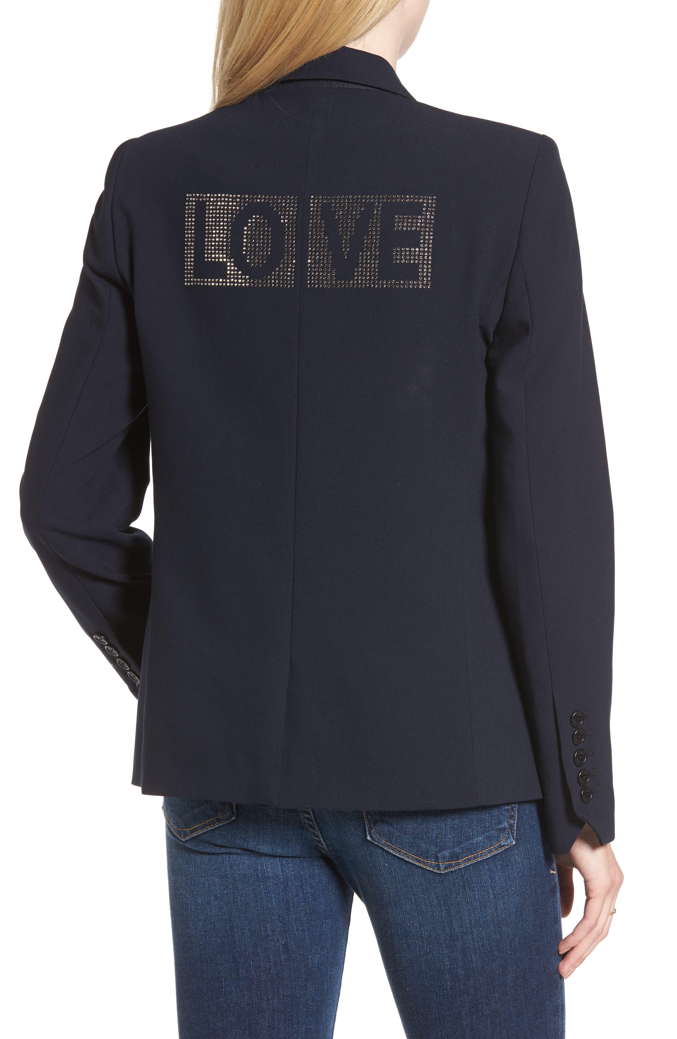 Victor Love Bis Studded Jacket,                             Alternate thumbnail 2, color,                             005