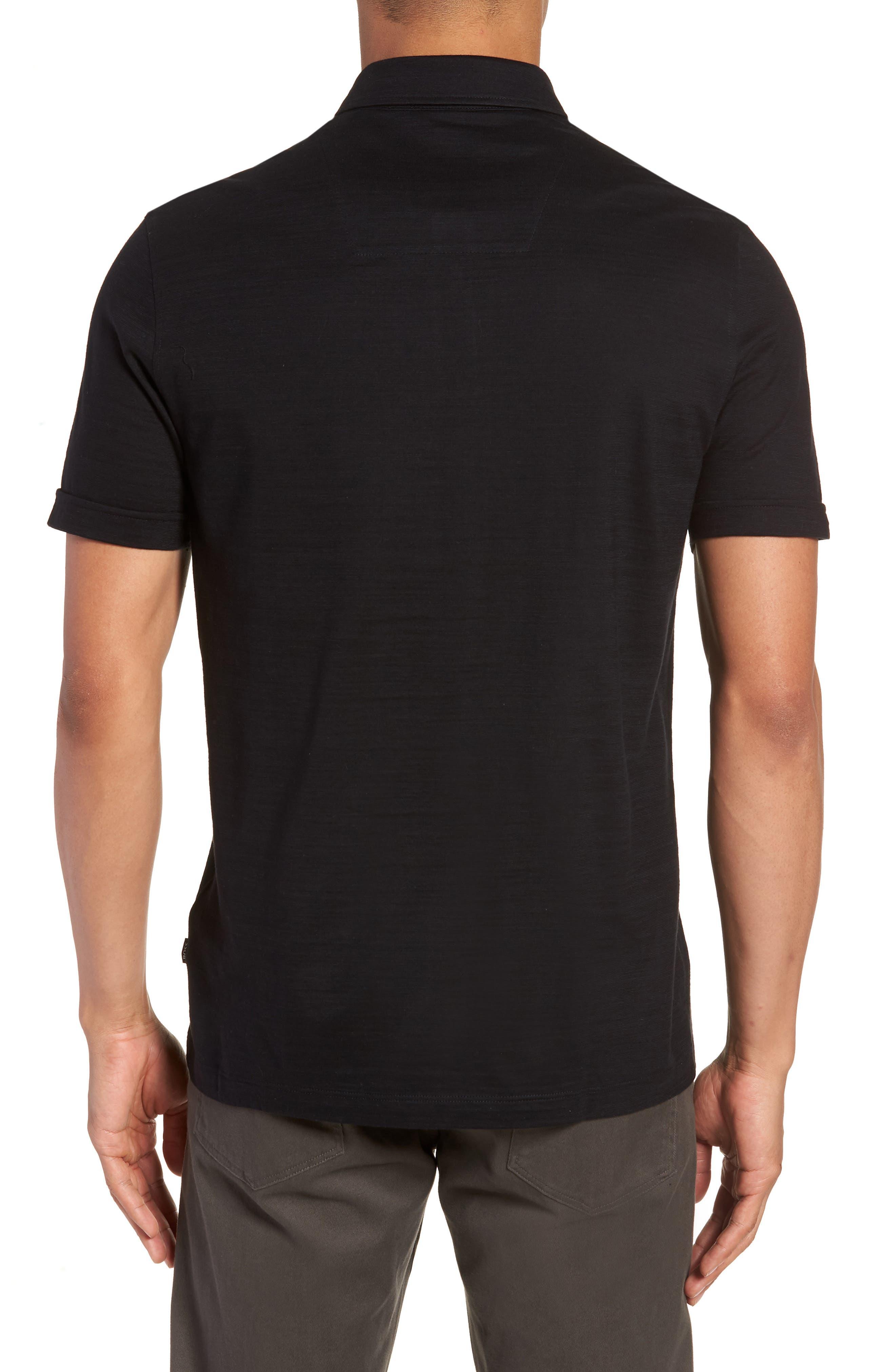 Press Flame Slim Fit Polo Shirt,                             Alternate thumbnail 2, color,                             001