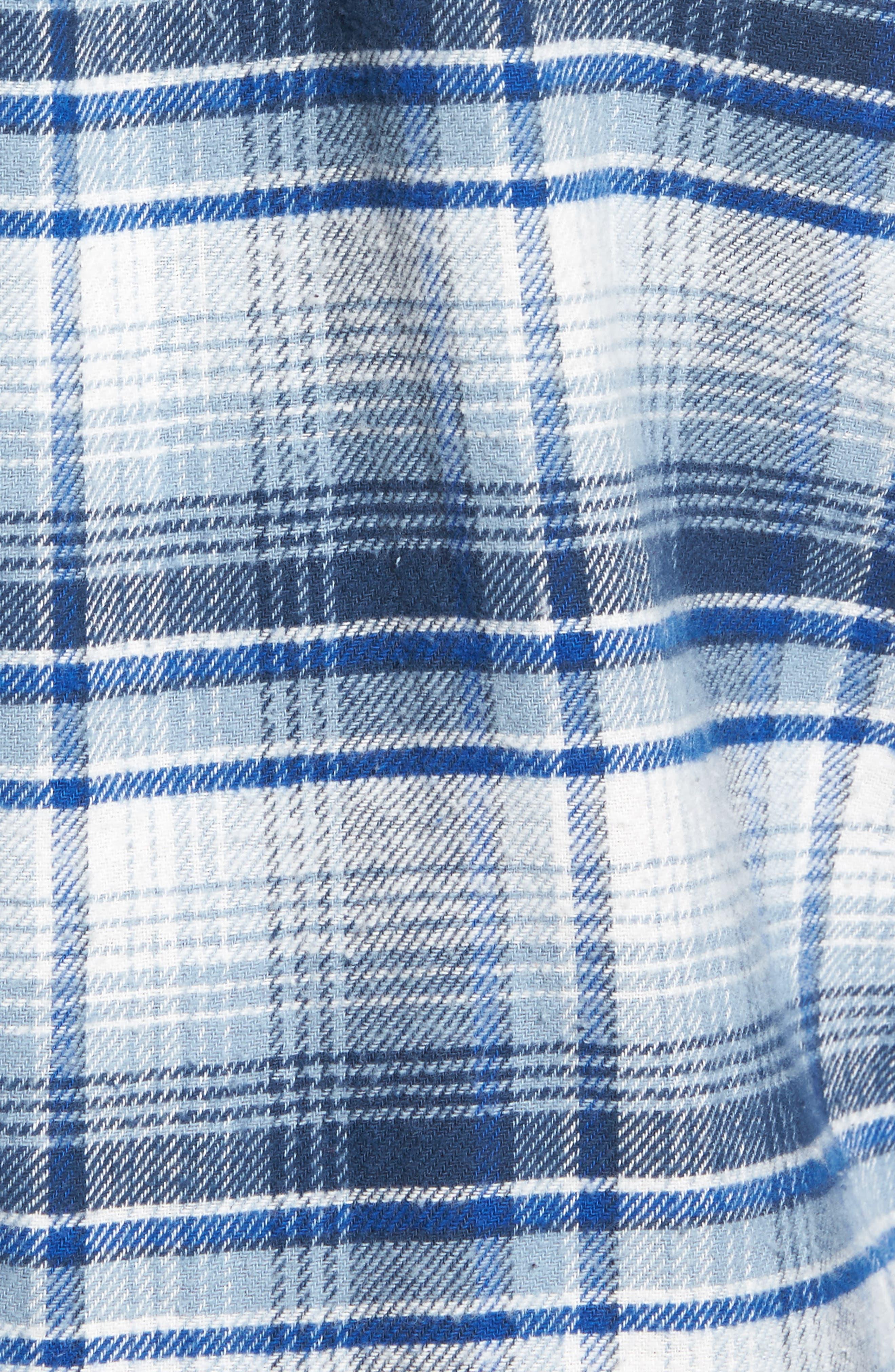 Butler Plaid Flannel Sport Shirt,                             Alternate thumbnail 14, color,