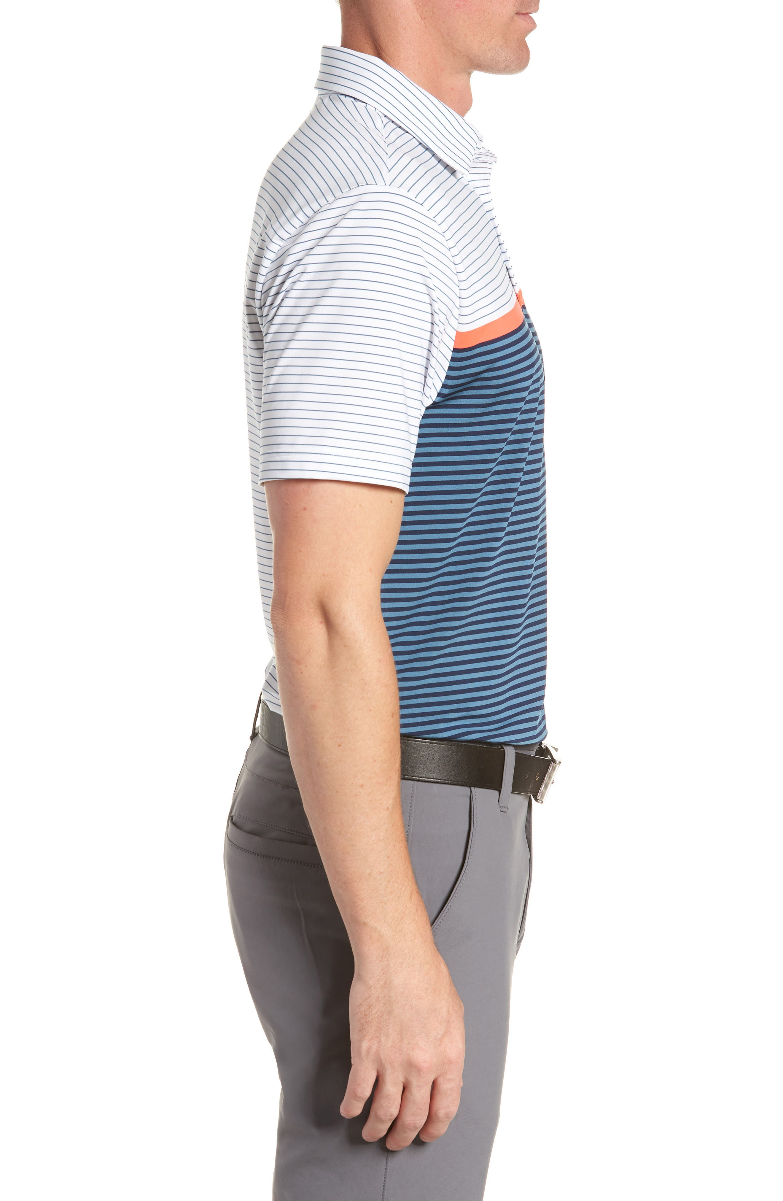 'Playoff' Loose Fit Short Sleeve Polo,                             Alternate thumbnail 121, color,