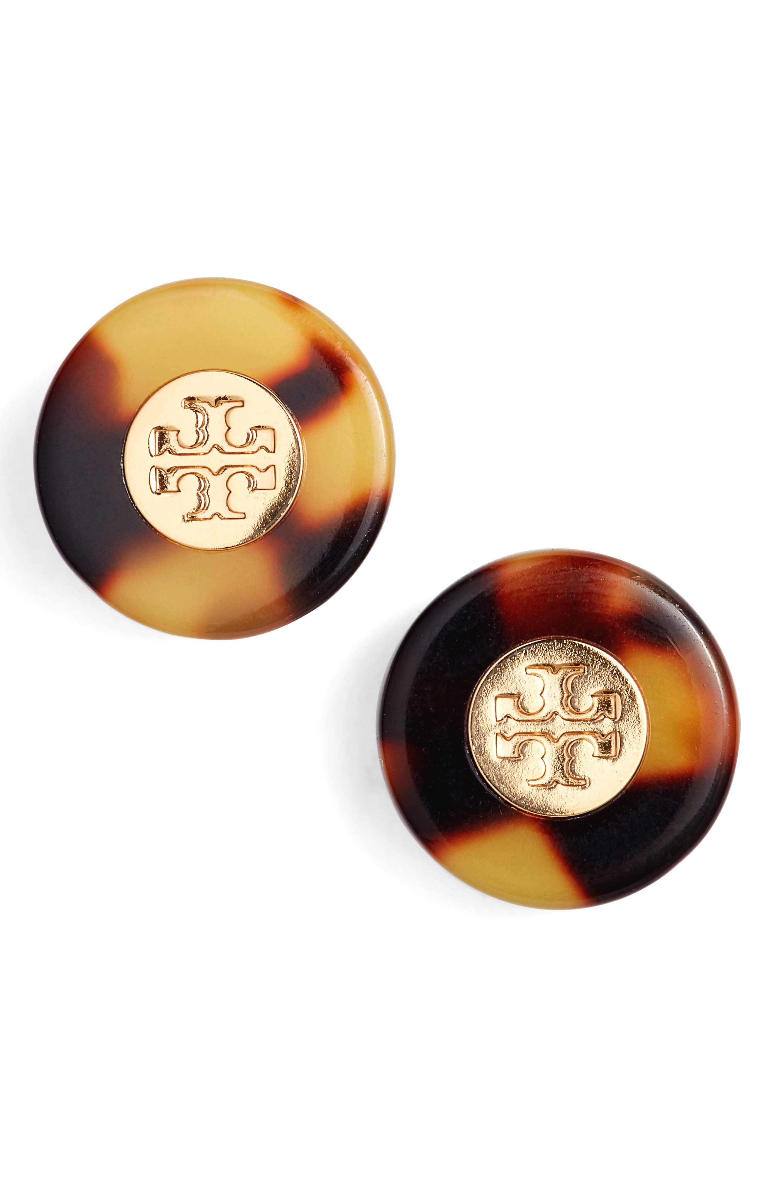 Logo Colorblock Stud Earrings,                         Main,                         color, 200