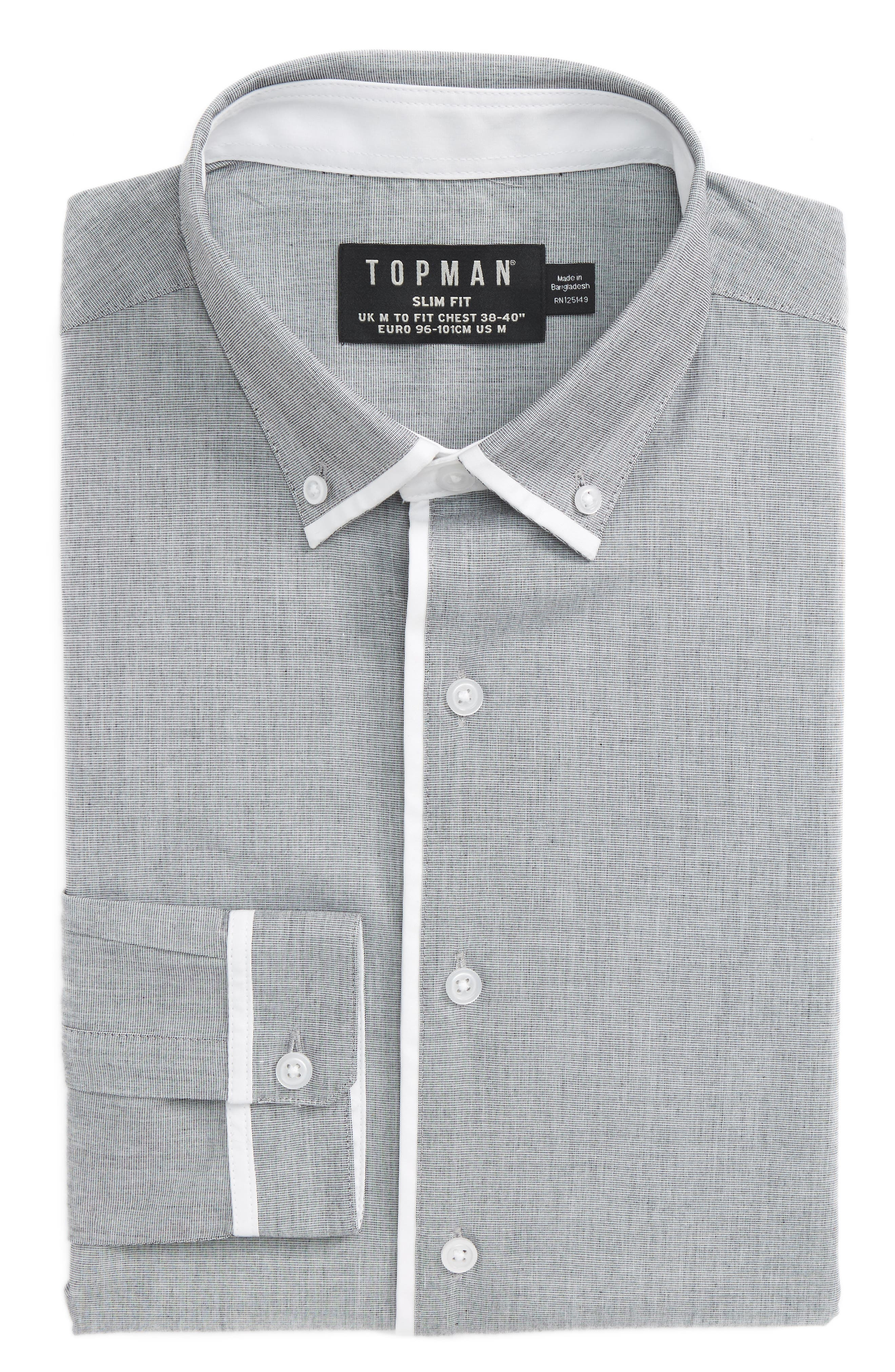 Leeson Slim Fit Smart Shirt,                             Alternate thumbnail 4, color,                             020