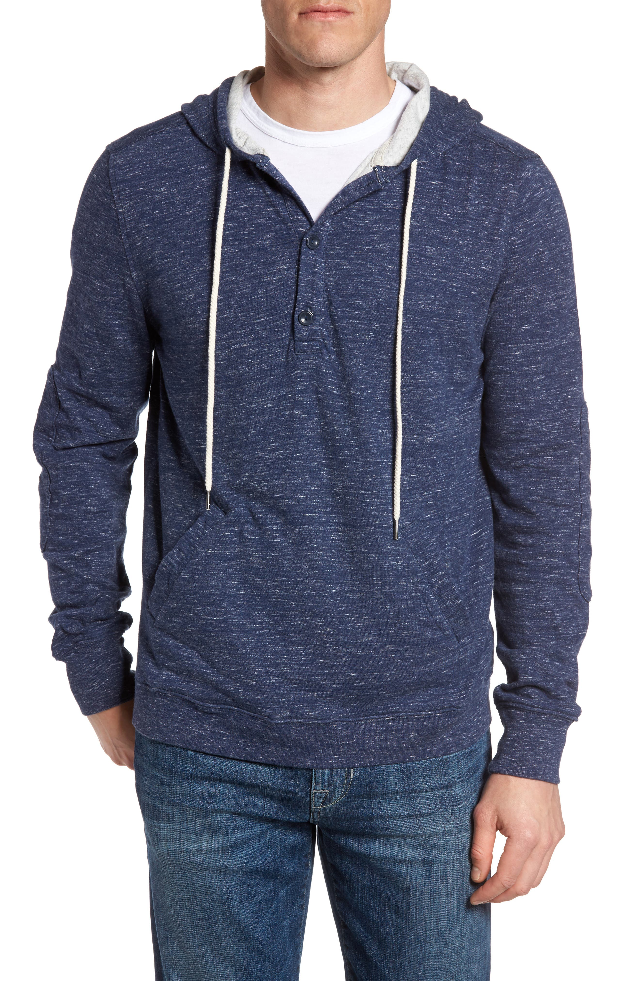 Blake Double Cloth Henley Hoodie,                         Main,                         color, 434