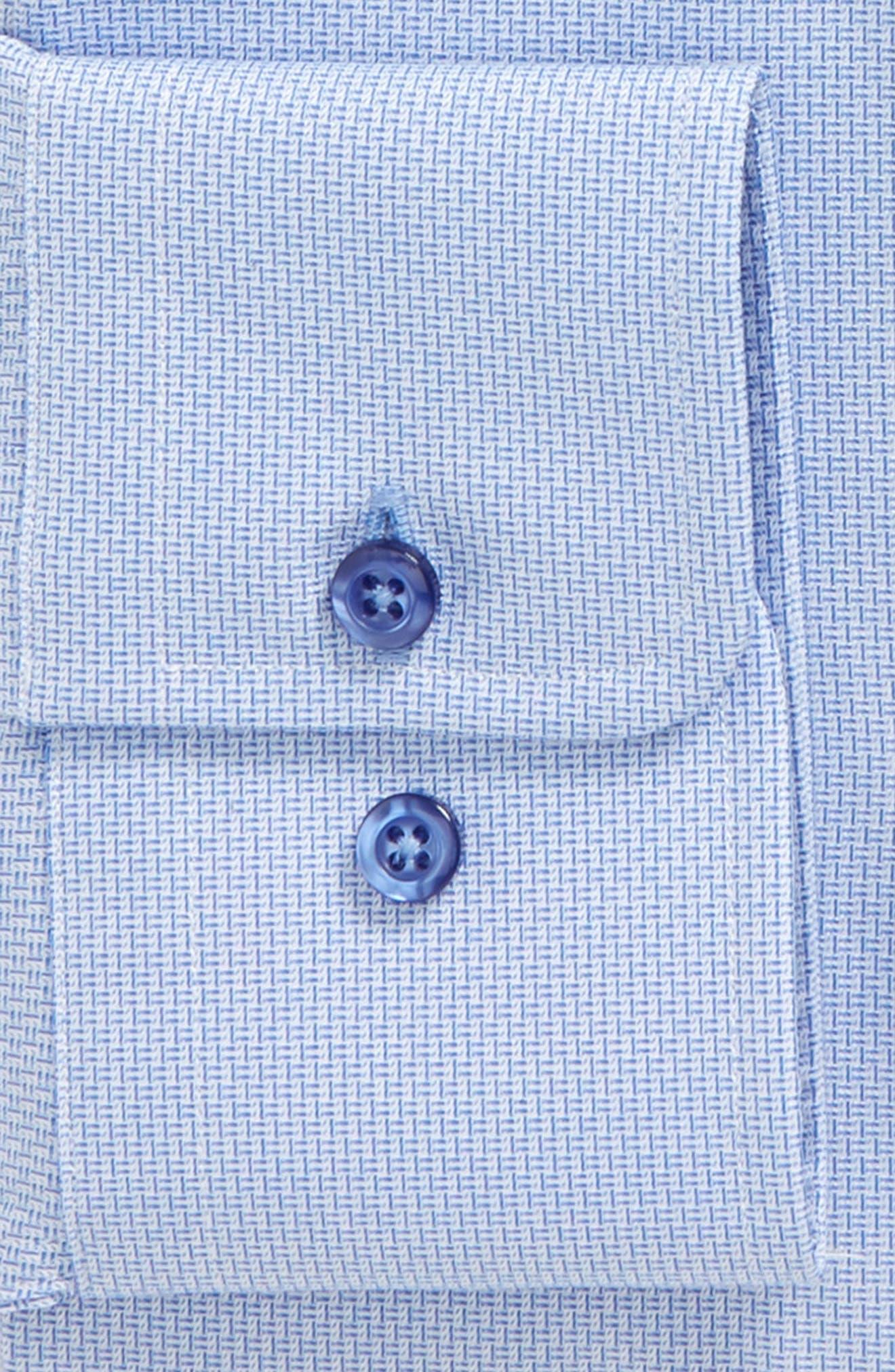 Trim Fit Solid Dress Shirt,                             Alternate thumbnail 6, color,                             423