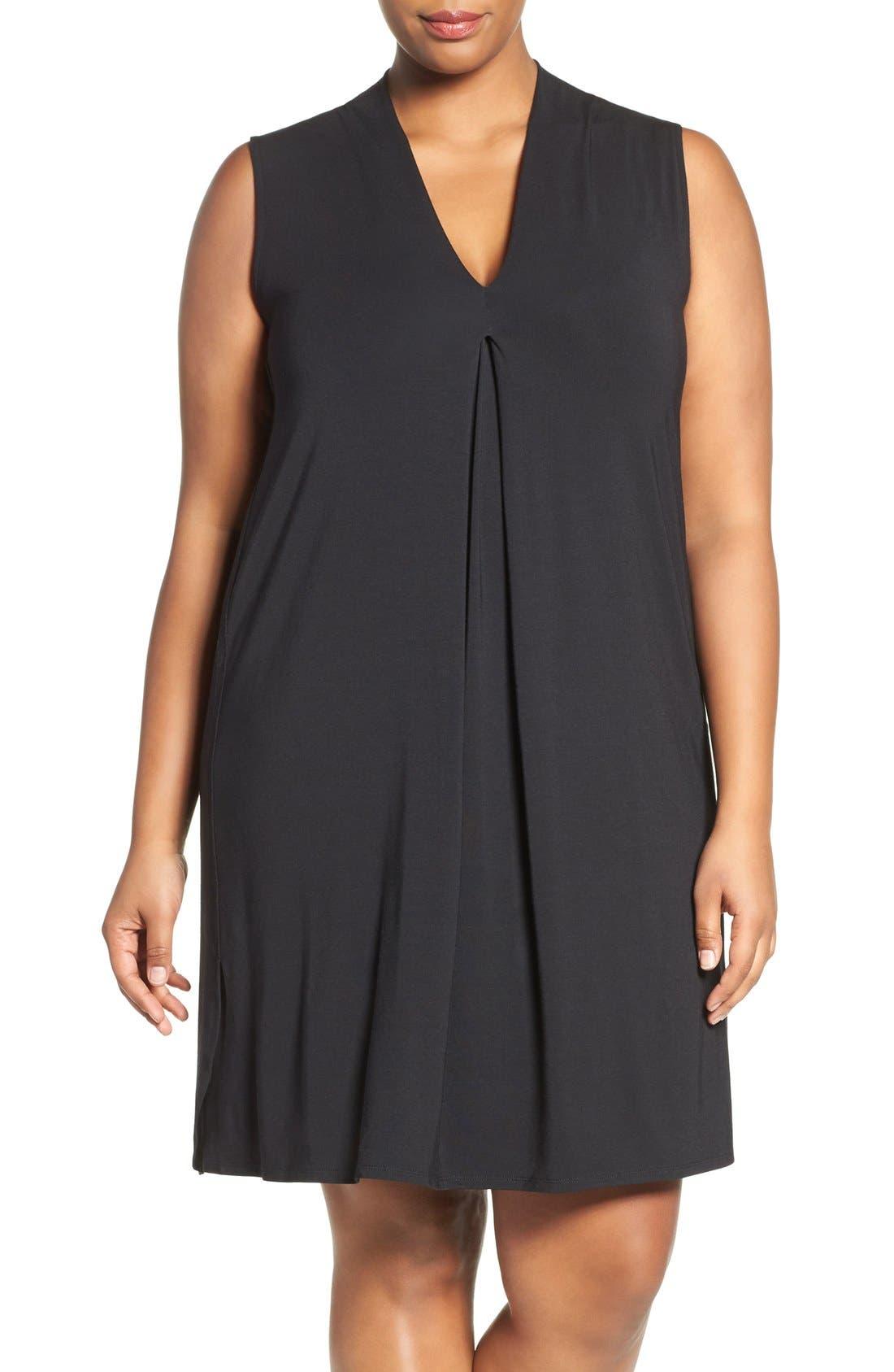 'Tara' Print Jersey A-Line Dress,                         Main,                         color, 001