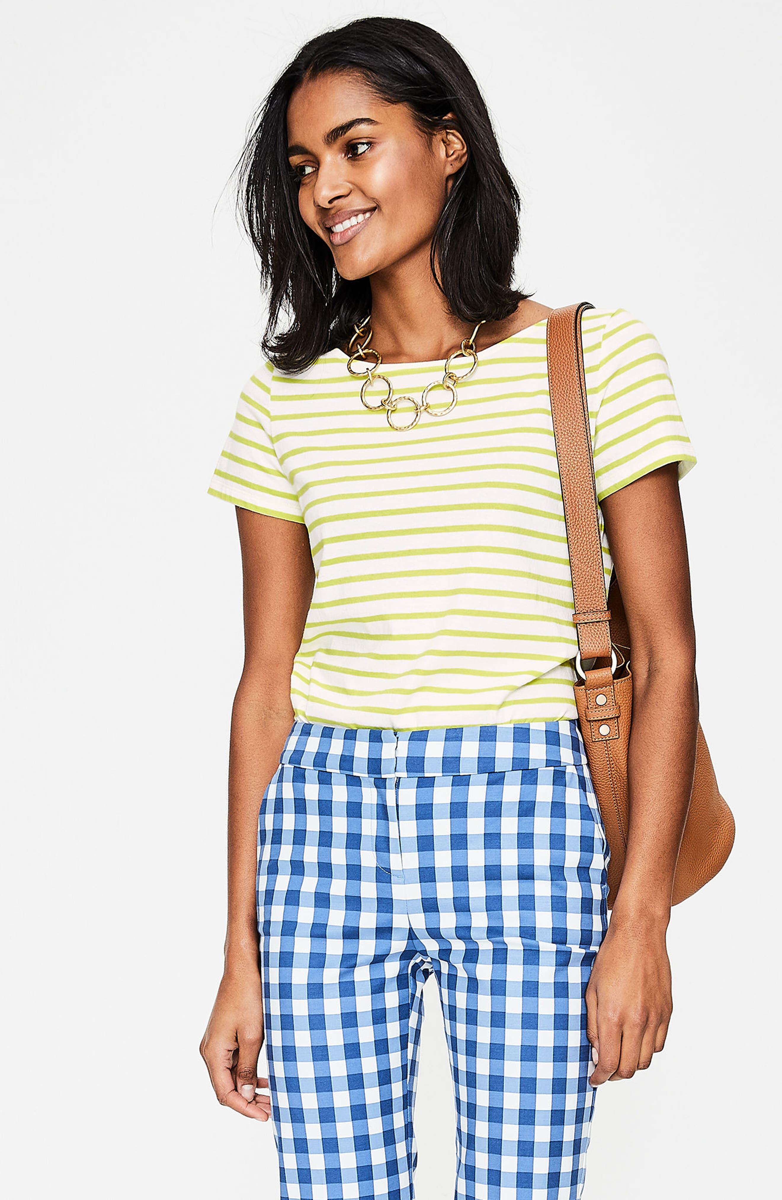 Breton Short Sleeve Stripe Cotton Top,                             Alternate thumbnail 29, color,