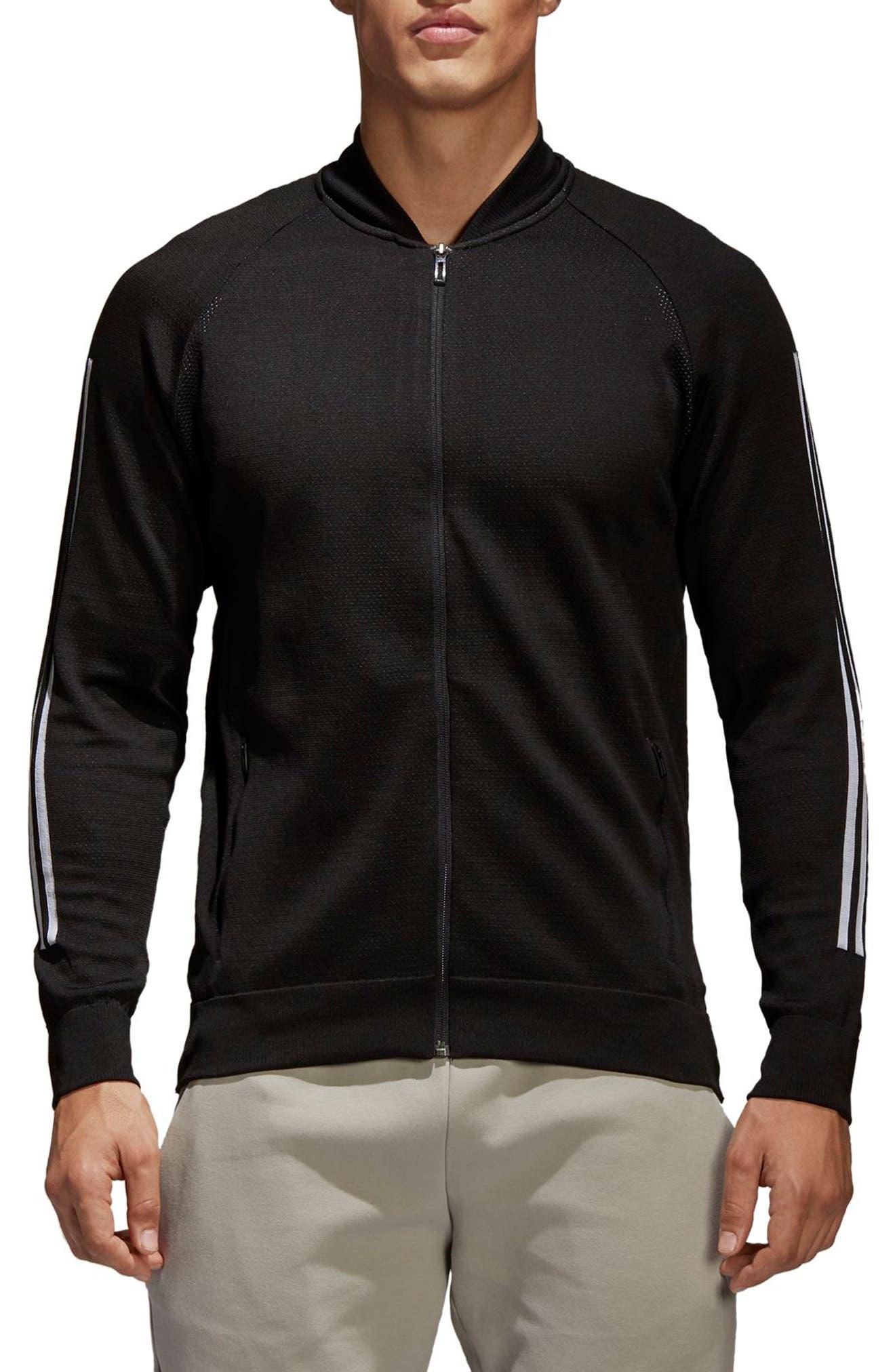ID Knit Track Jacket,                             Main thumbnail 1, color,                             001