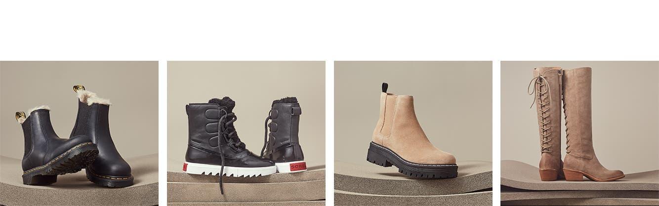 Trending styles in women's boots.