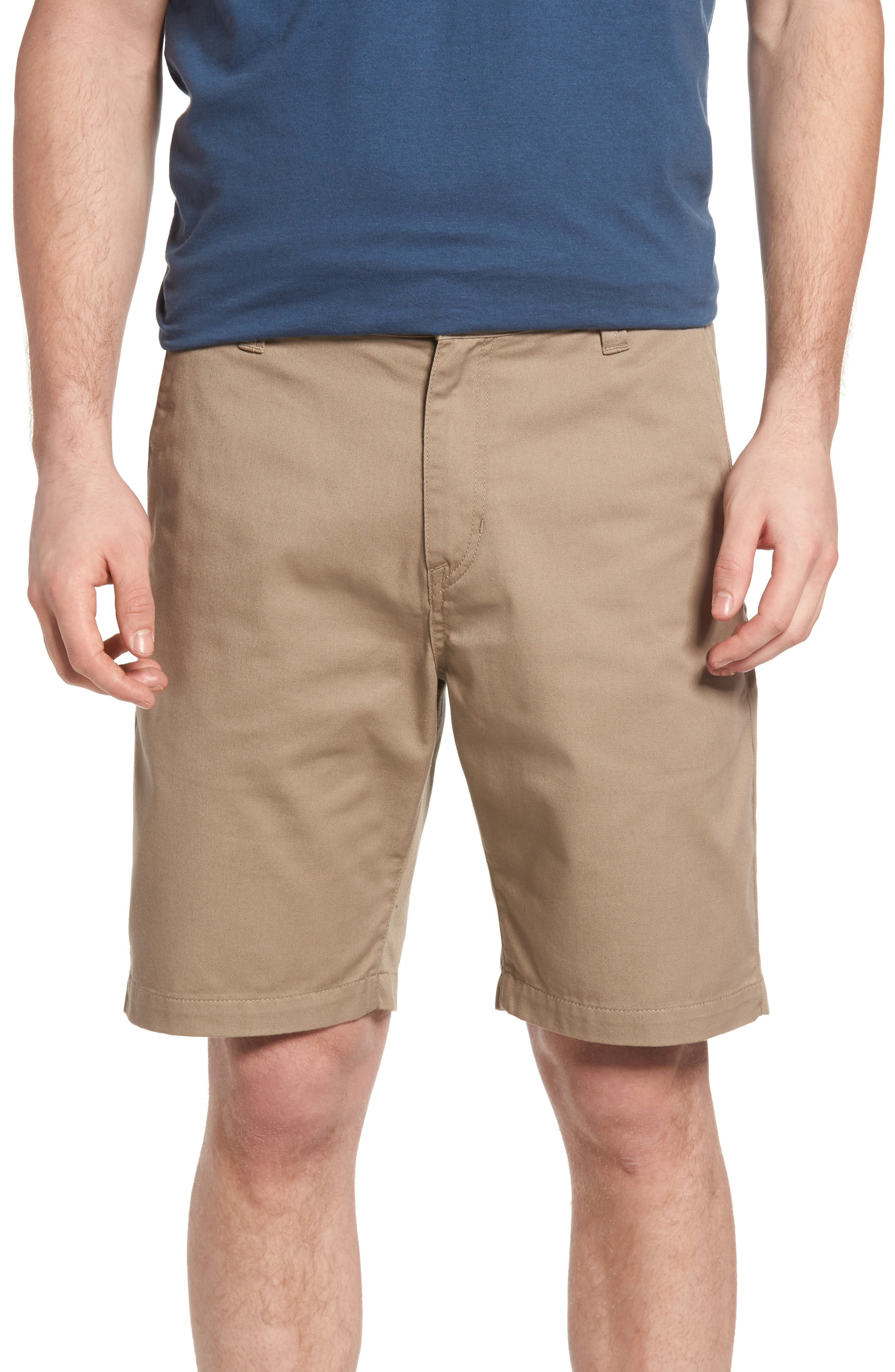 Modern Chino Shorts,                         Main,                         color, KHAKI