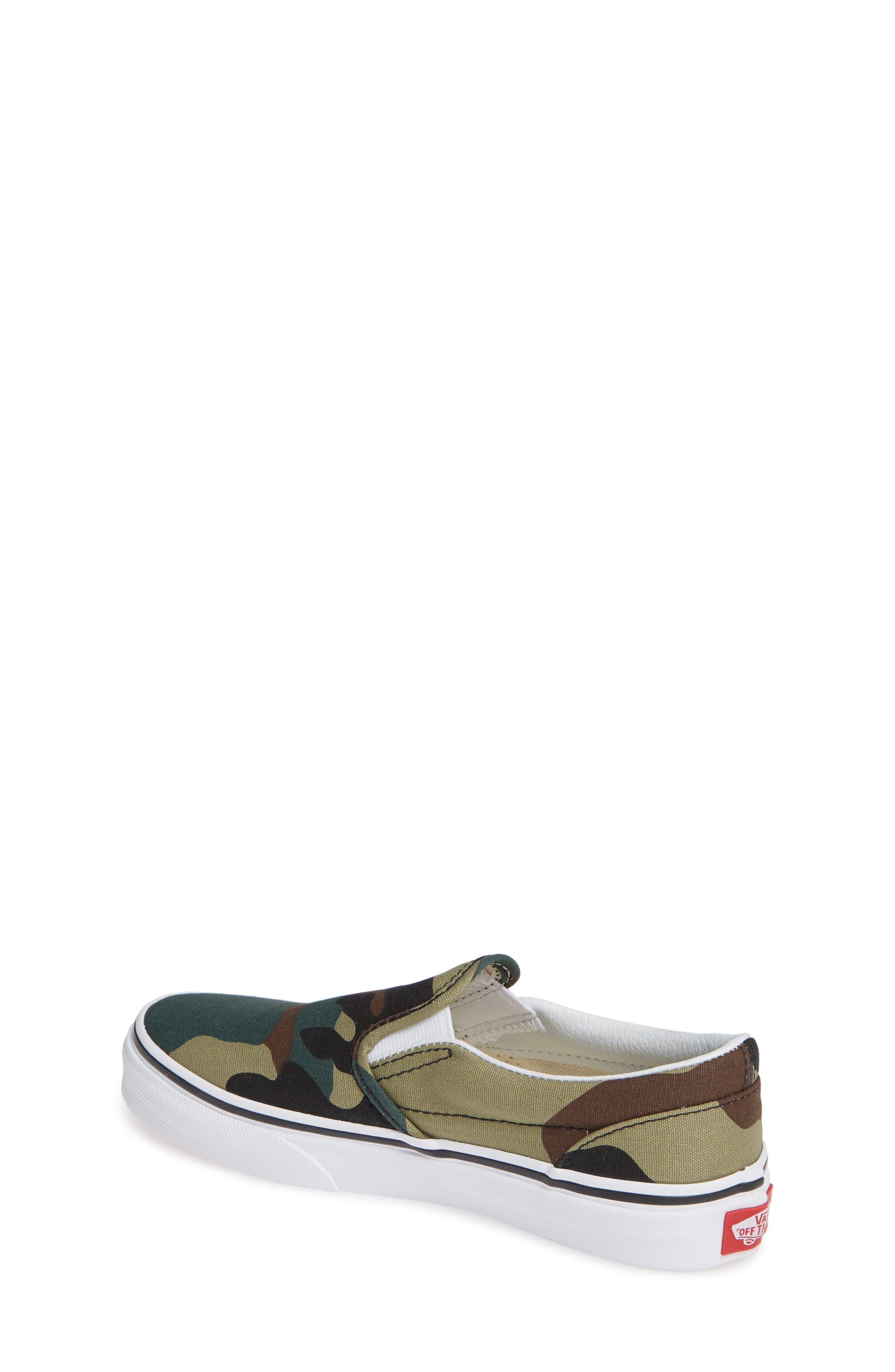 Classic Slip-On Sneaker,                             Alternate thumbnail 2, color,                             WOODLAND CAMO BLACK/ WOODLAND