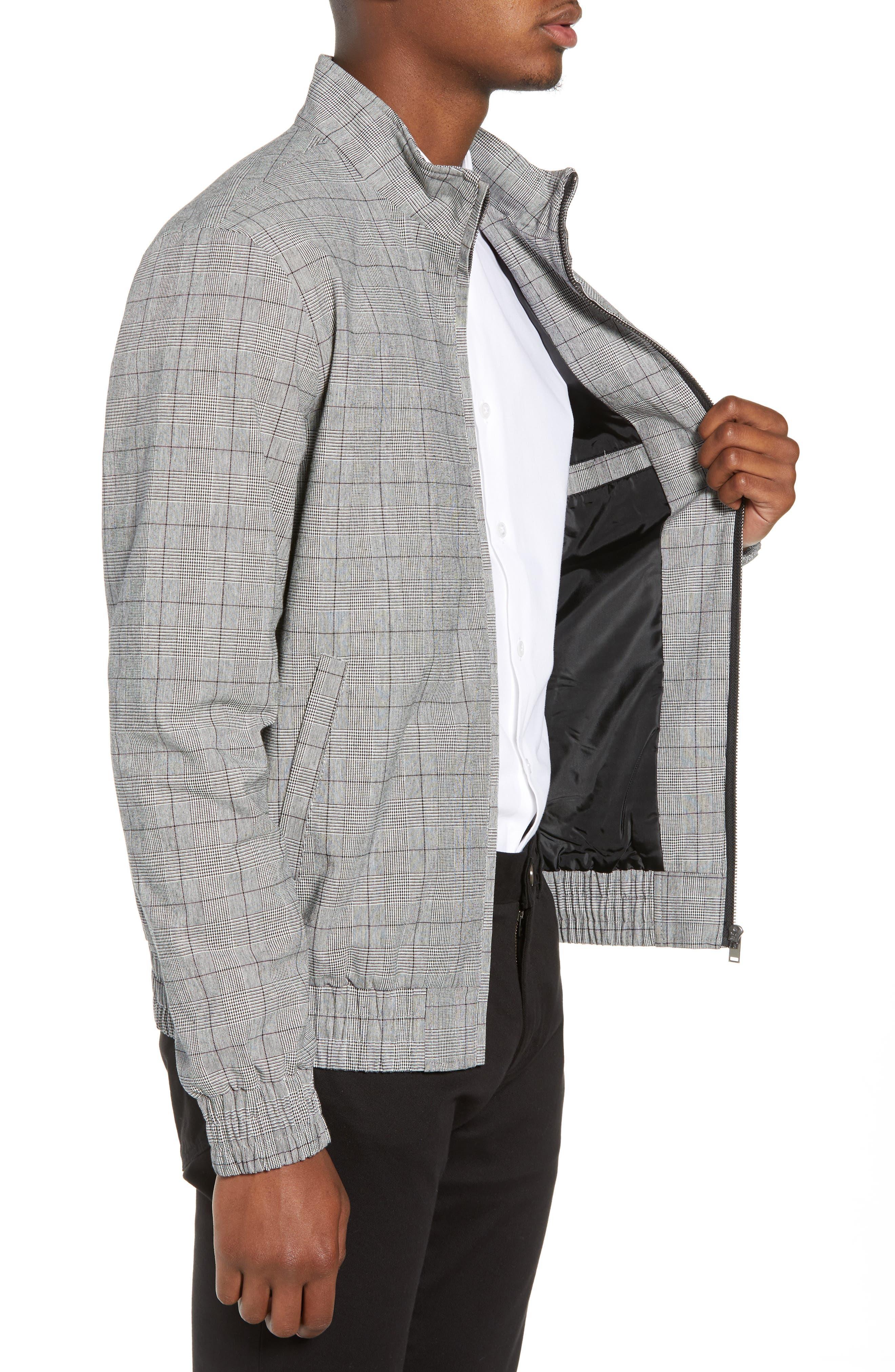 Check Harrington Jacket,                             Alternate thumbnail 3, color,                             020