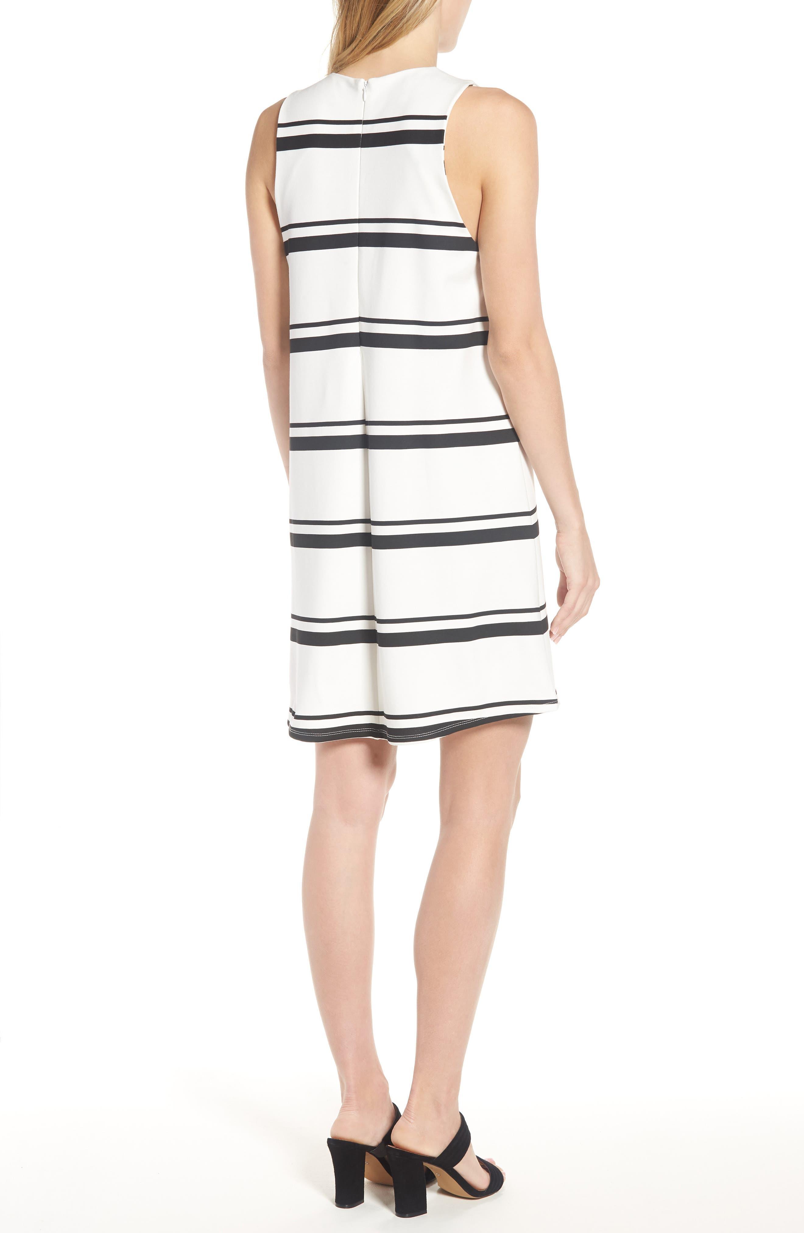 Stripe Swing Dress,                             Alternate thumbnail 2, color,                             001
