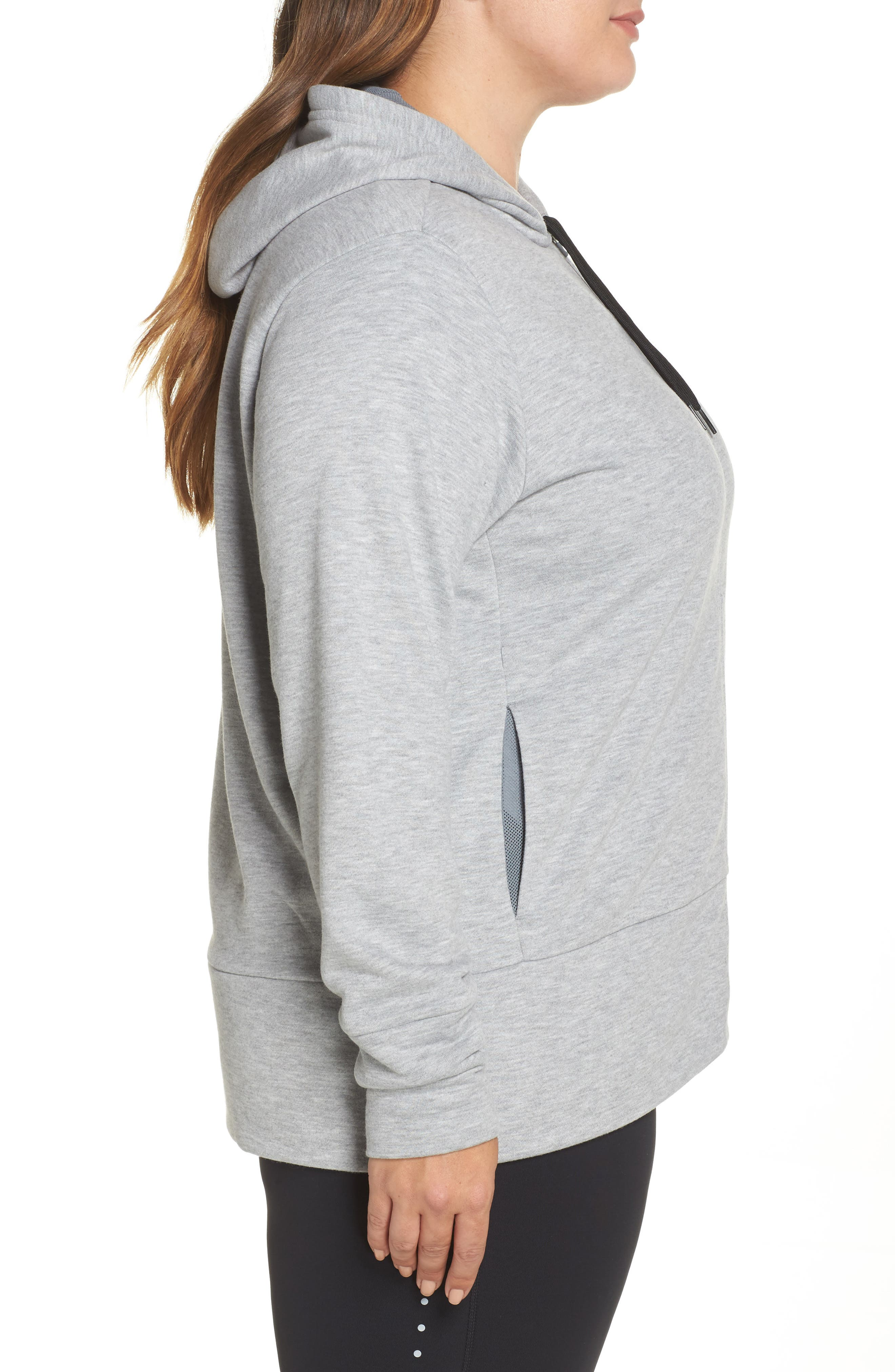 Dry-FIT Oversize Zip Hoodie,                             Alternate thumbnail 3, color,                             063