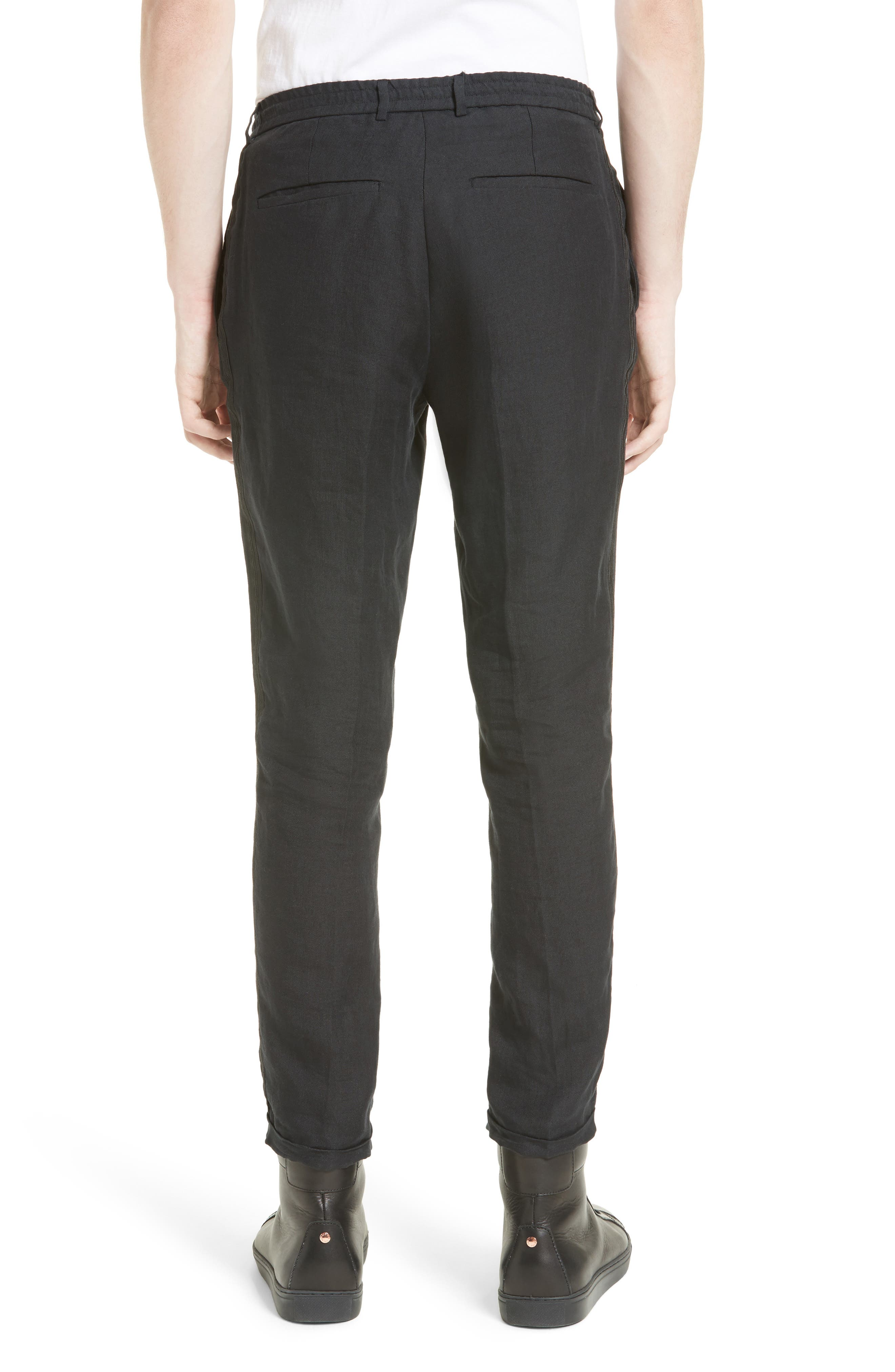 Relaxed Fit Linen Pants,                             Alternate thumbnail 2, color,                             001