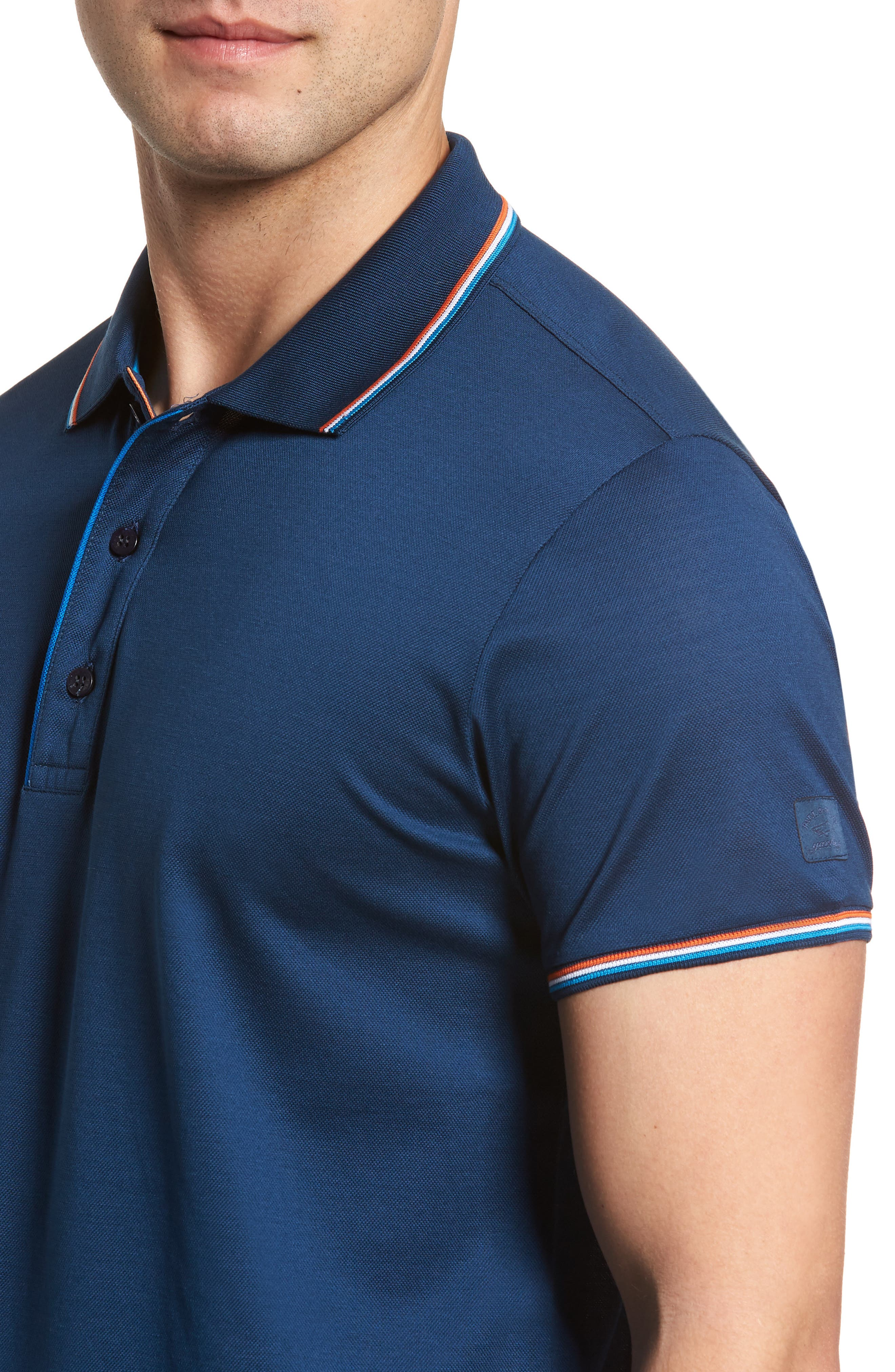 Paul&Shark Tipped Polo,                             Alternate thumbnail 4, color,                             403