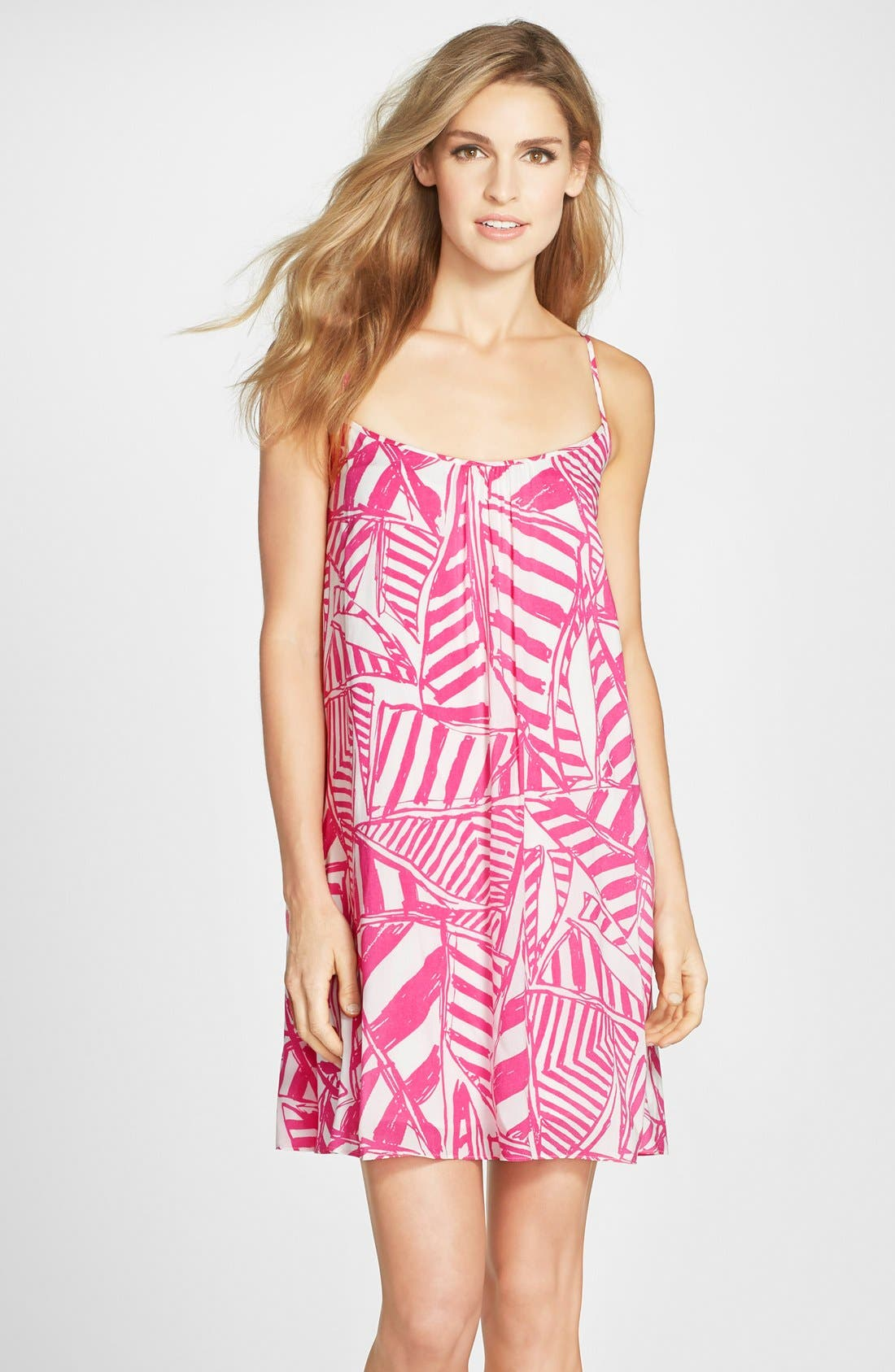 LILLY PULITZER<SUP>®</SUP> 'Daphne' Print Trapeze Dress, Main, color, 659