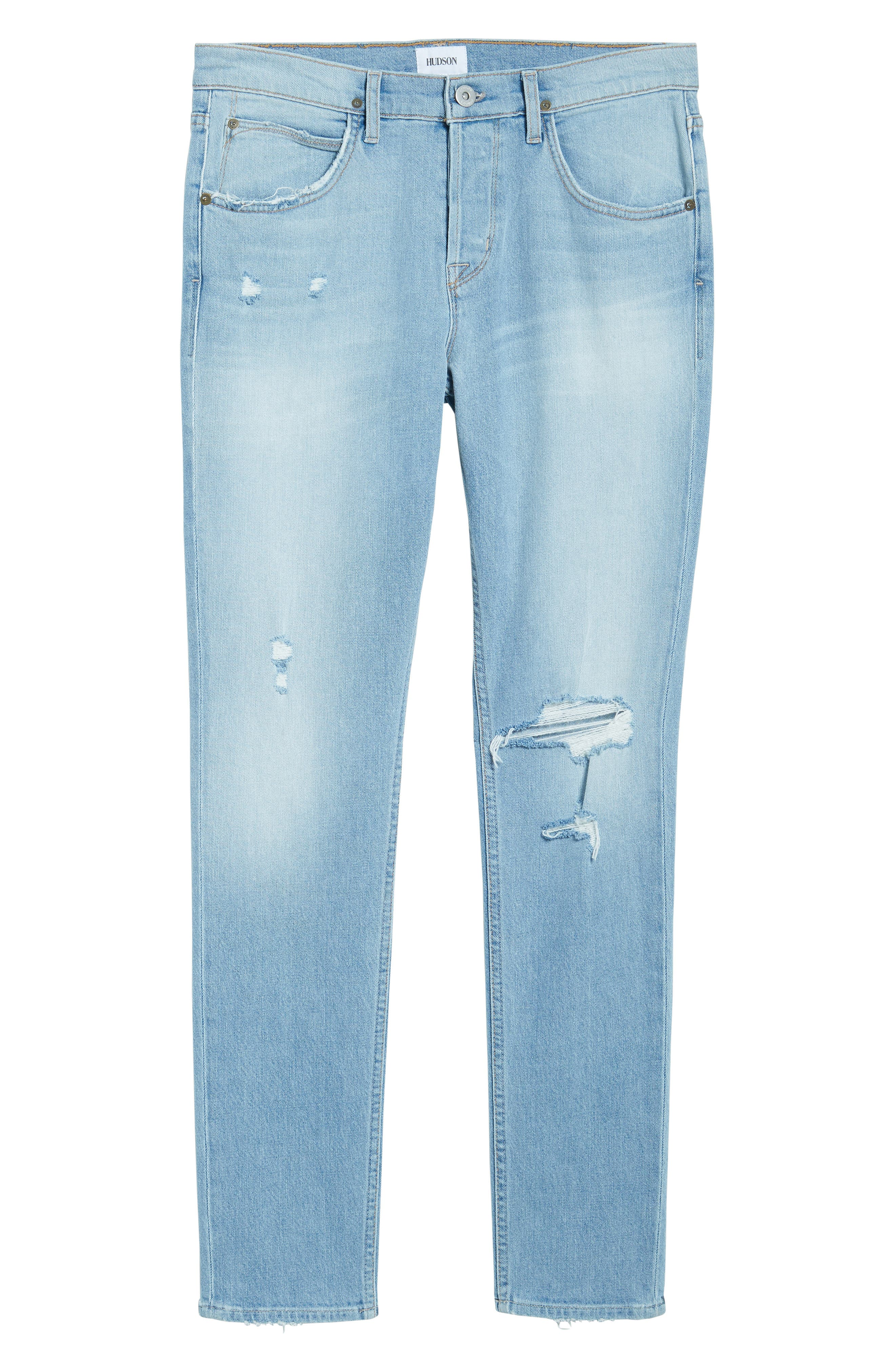 Axl Skinny Fit Jeans,                             Alternate thumbnail 6, color,                             BLAZE