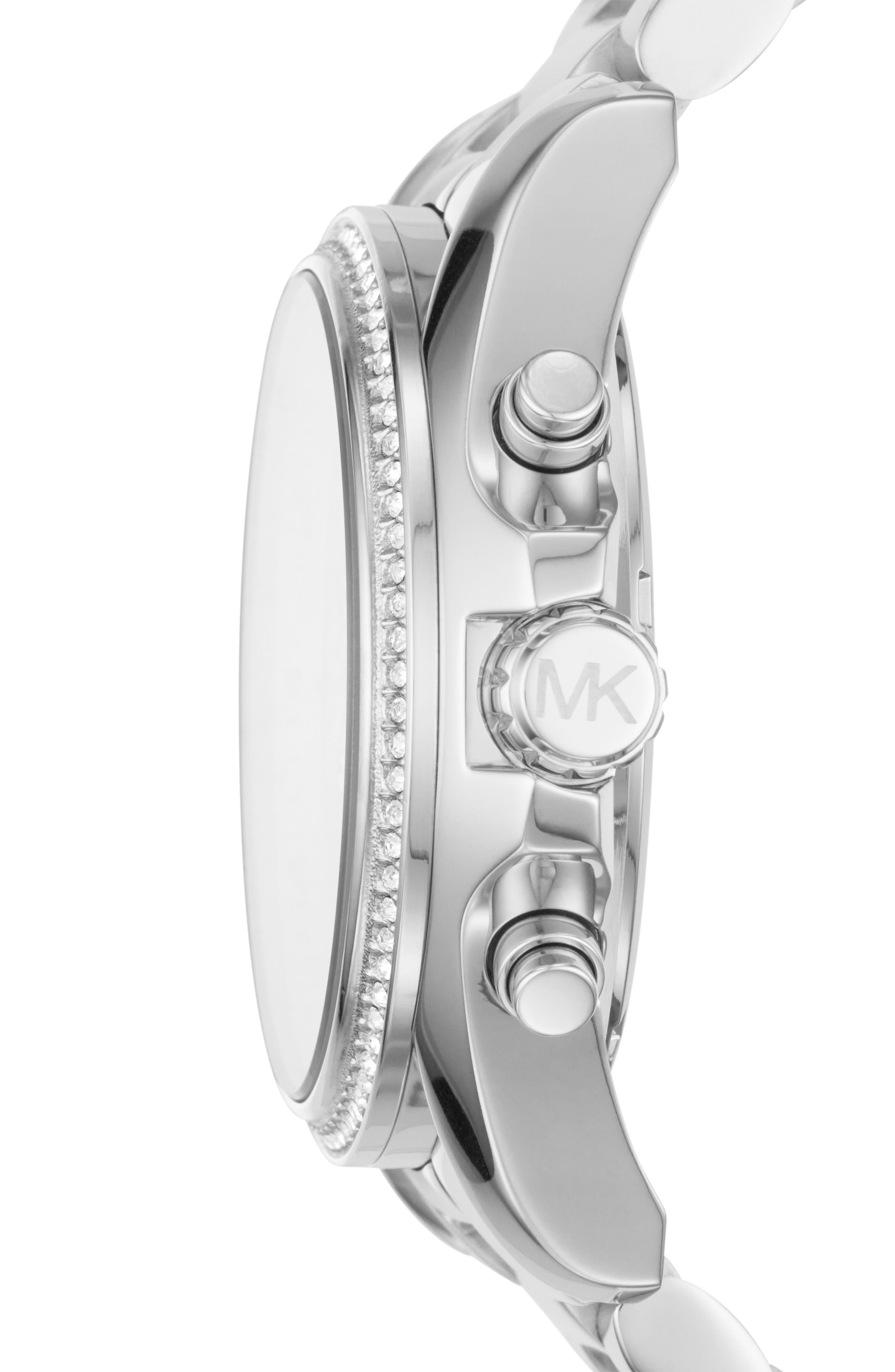 Bradshaw Crystal Pavé Chronograph Bracelet Watch, 43mm,                             Alternate thumbnail 3, color,