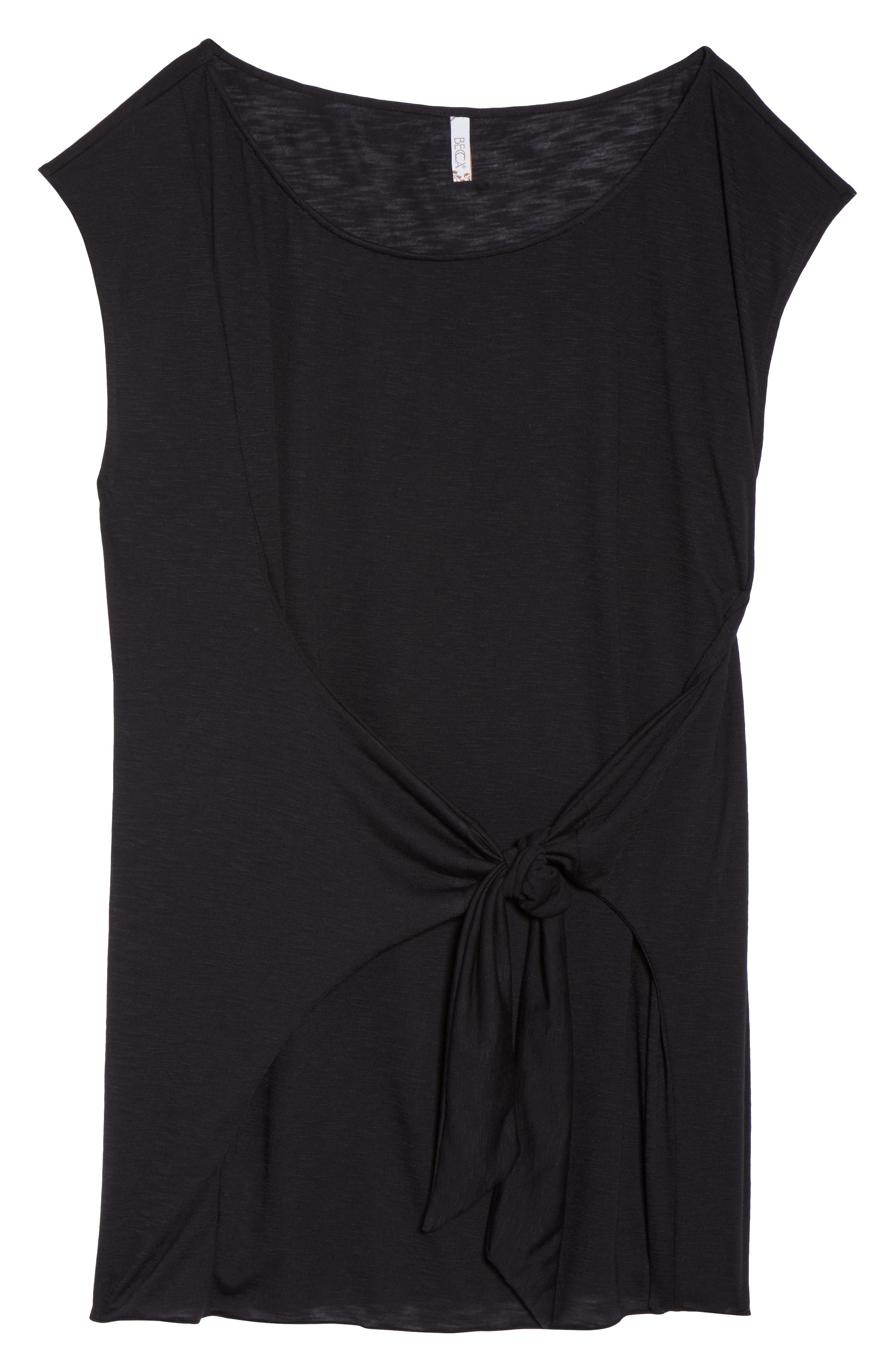 Breezy Basic Cover-Up Dress,                             Alternate thumbnail 6, color,                             BLACK