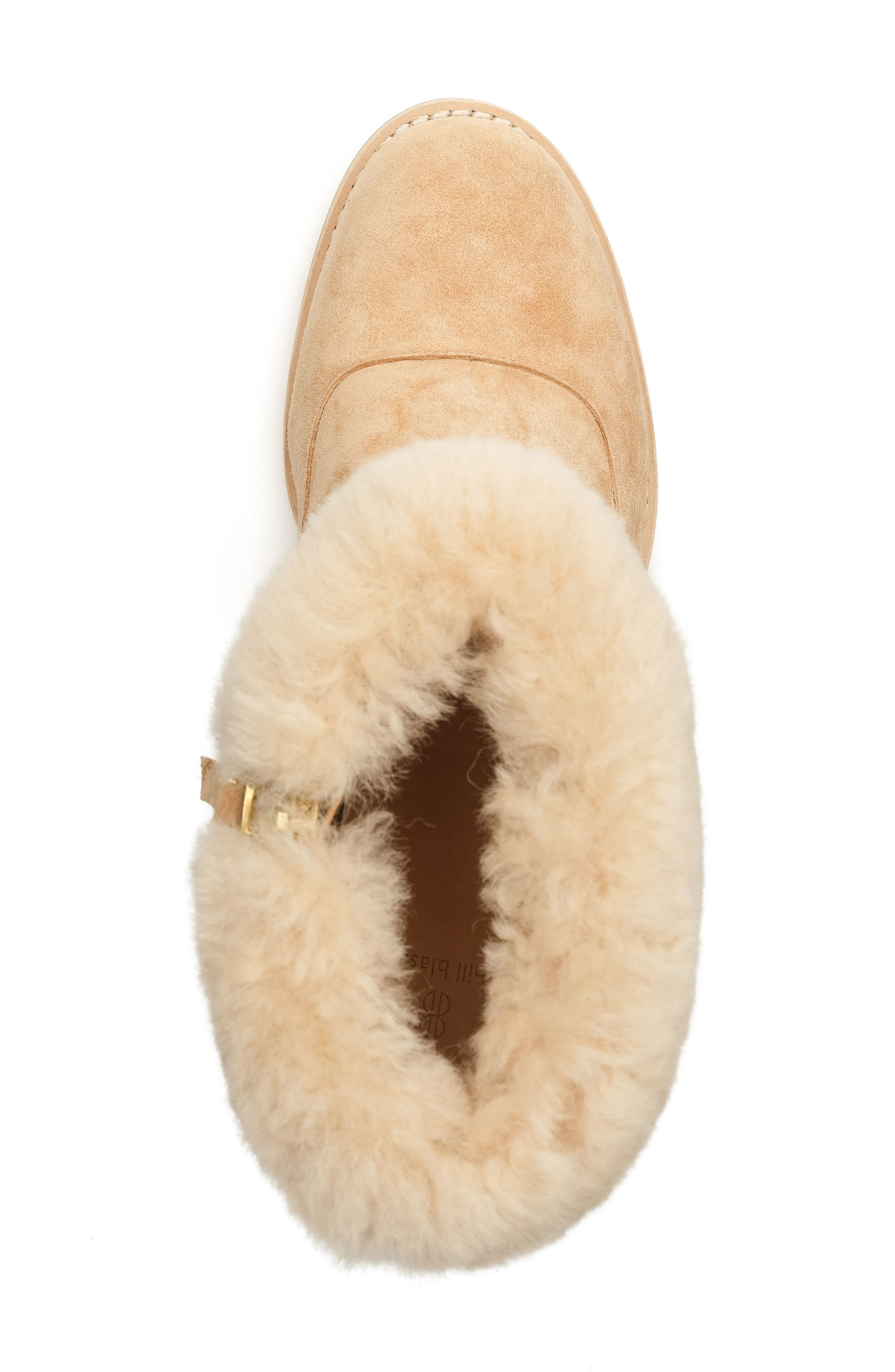 Genuine Shearling Bootie,                             Alternate thumbnail 4, color,