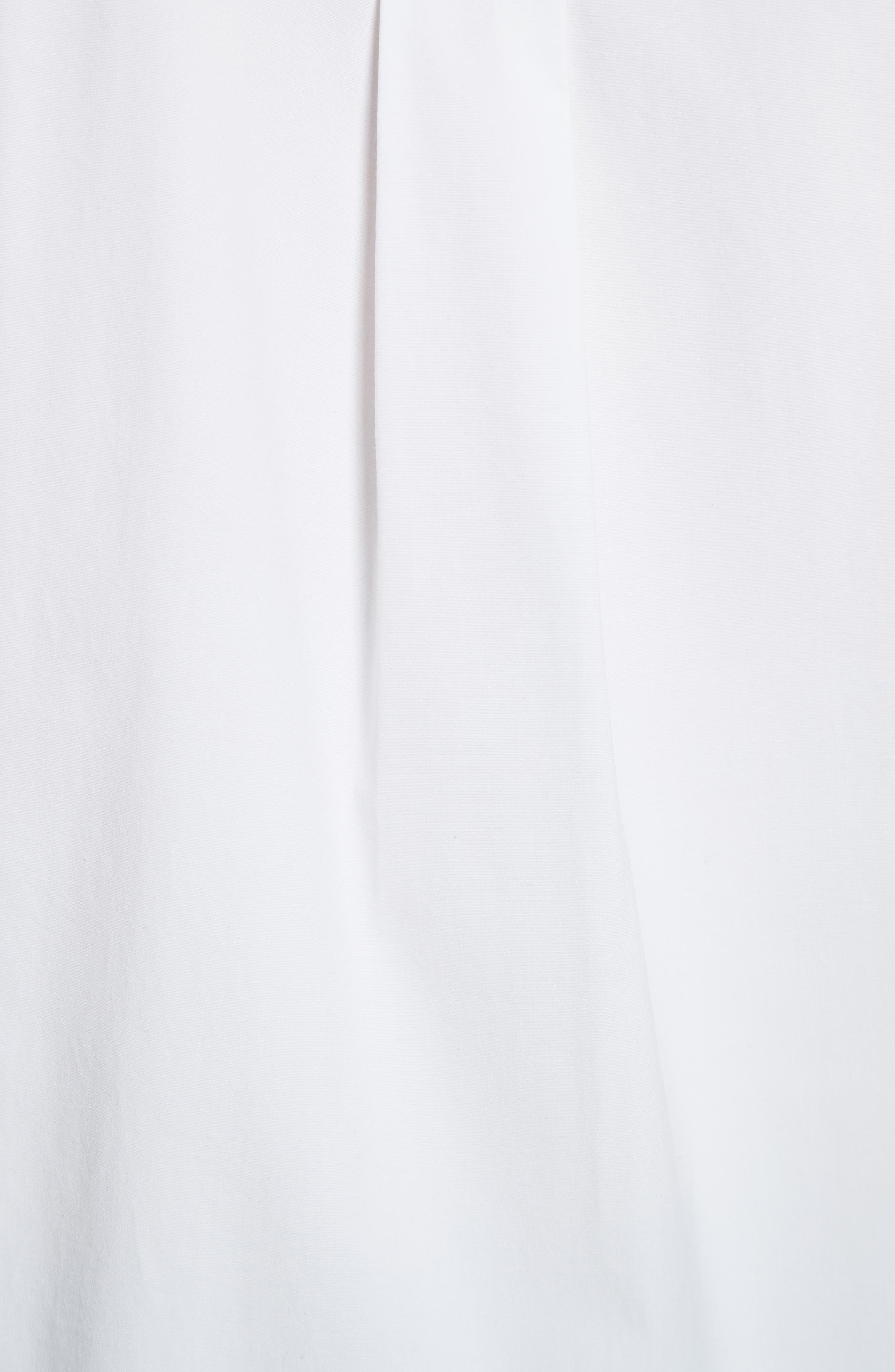 Velvet Collar Stretch Cotton Shirt,                             Alternate thumbnail 5, color,