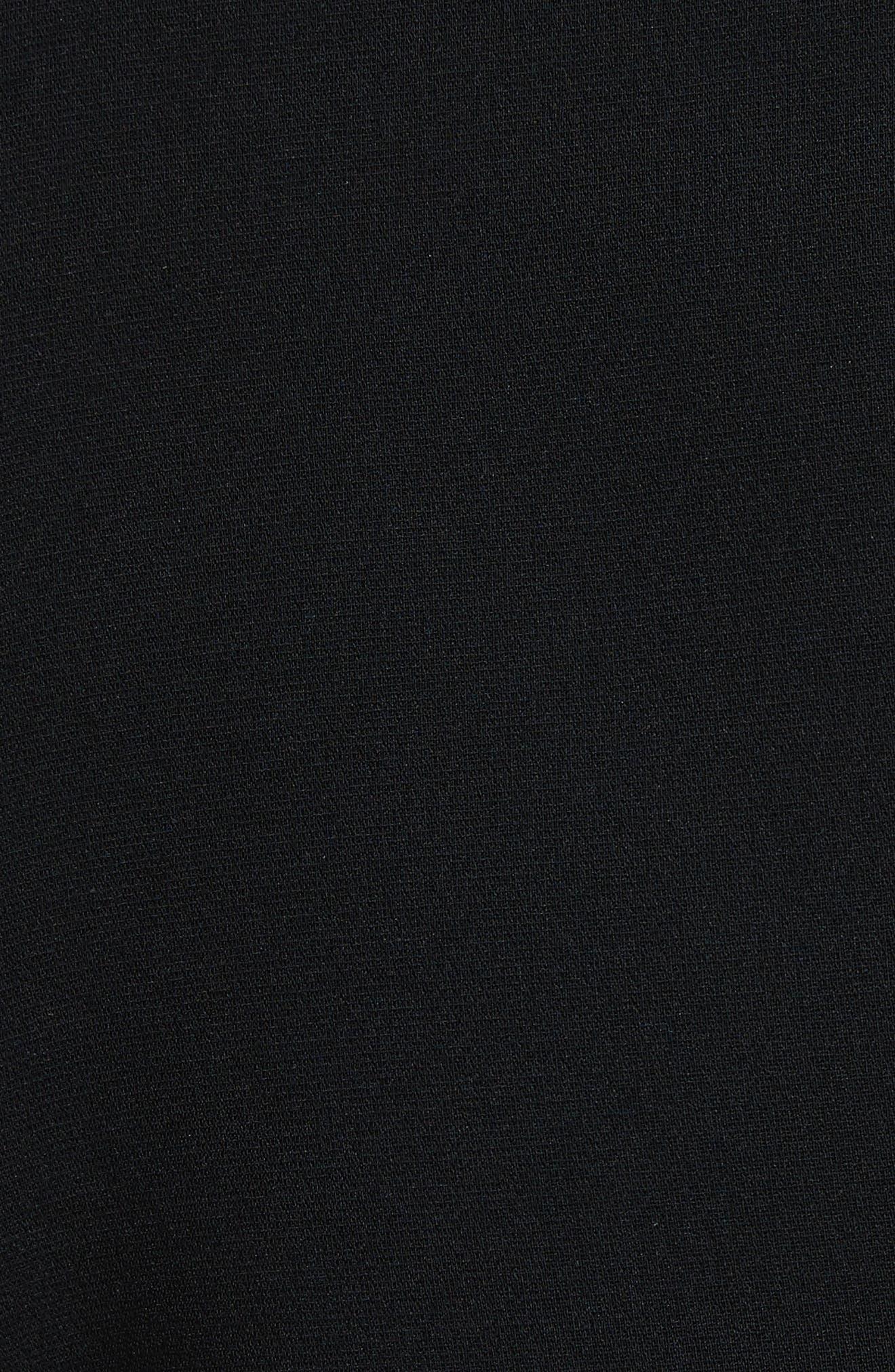 Kenzie Ruffle Side Shorts,                             Alternate thumbnail 5, color,                             001