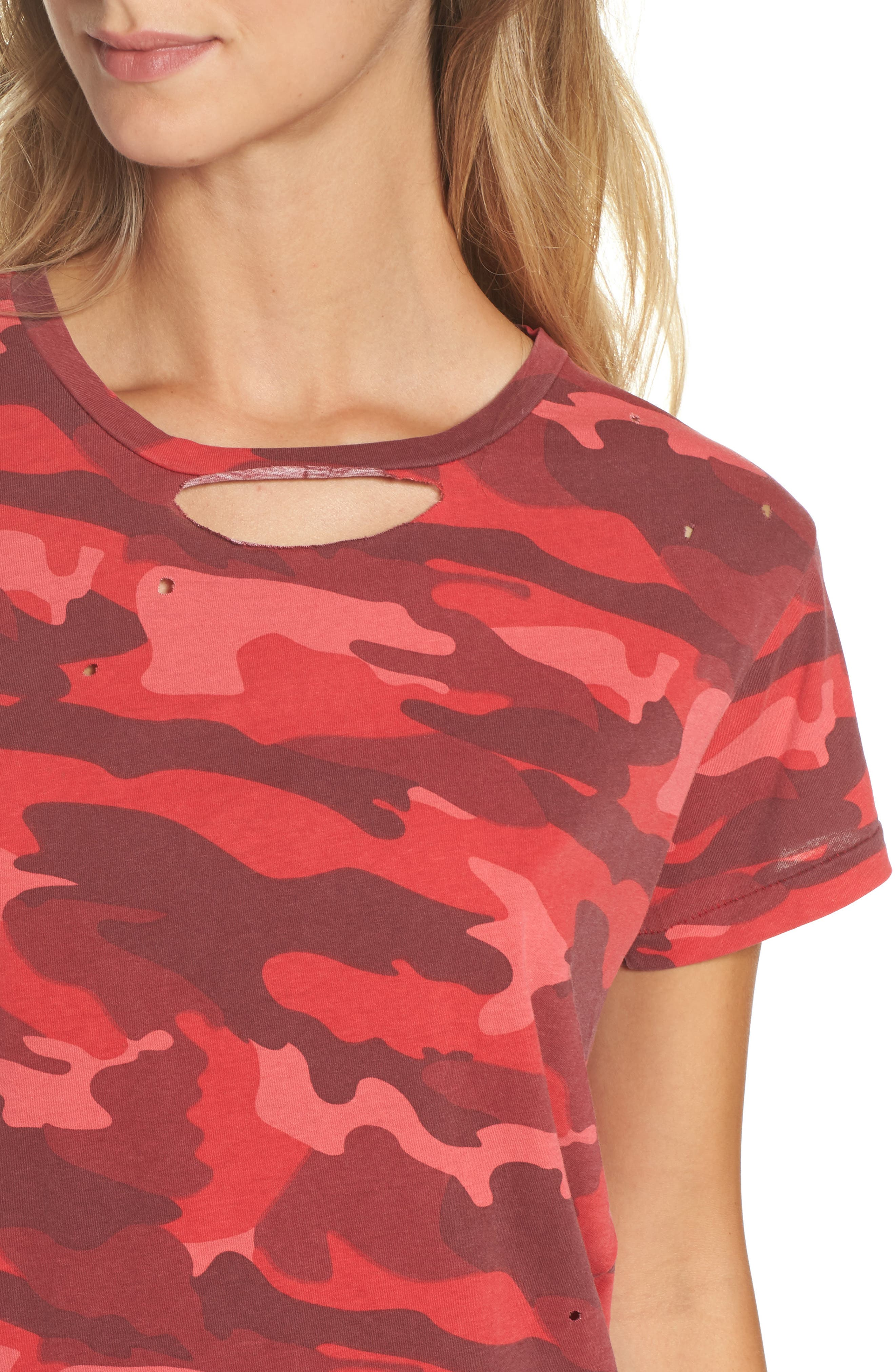 Distressed Camo Tee,                             Alternate thumbnail 4, color,                             600