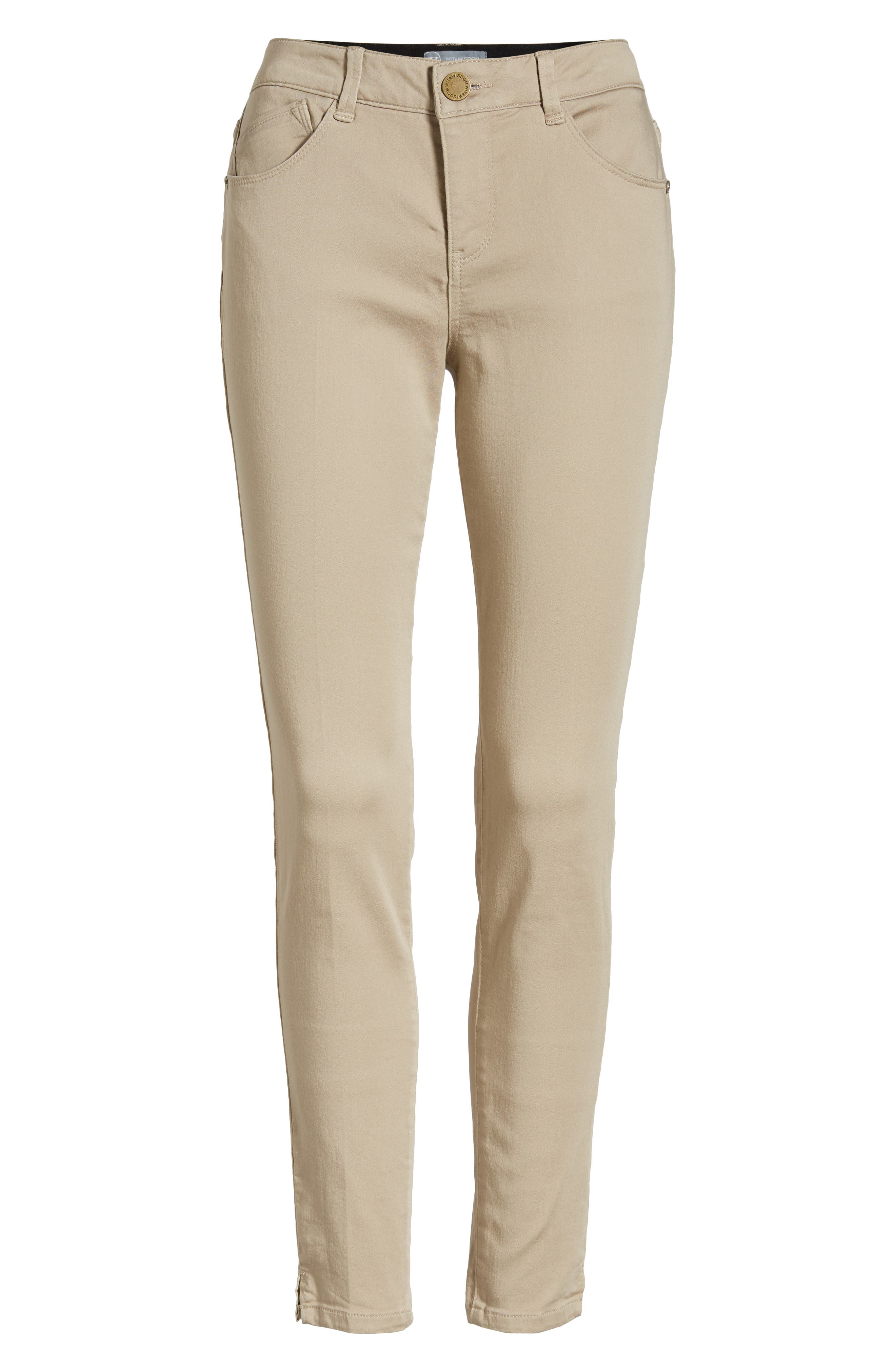 Wit and Wisdom Ab-Solution Ankle Skinny Pants, Alternate, color, FLAX