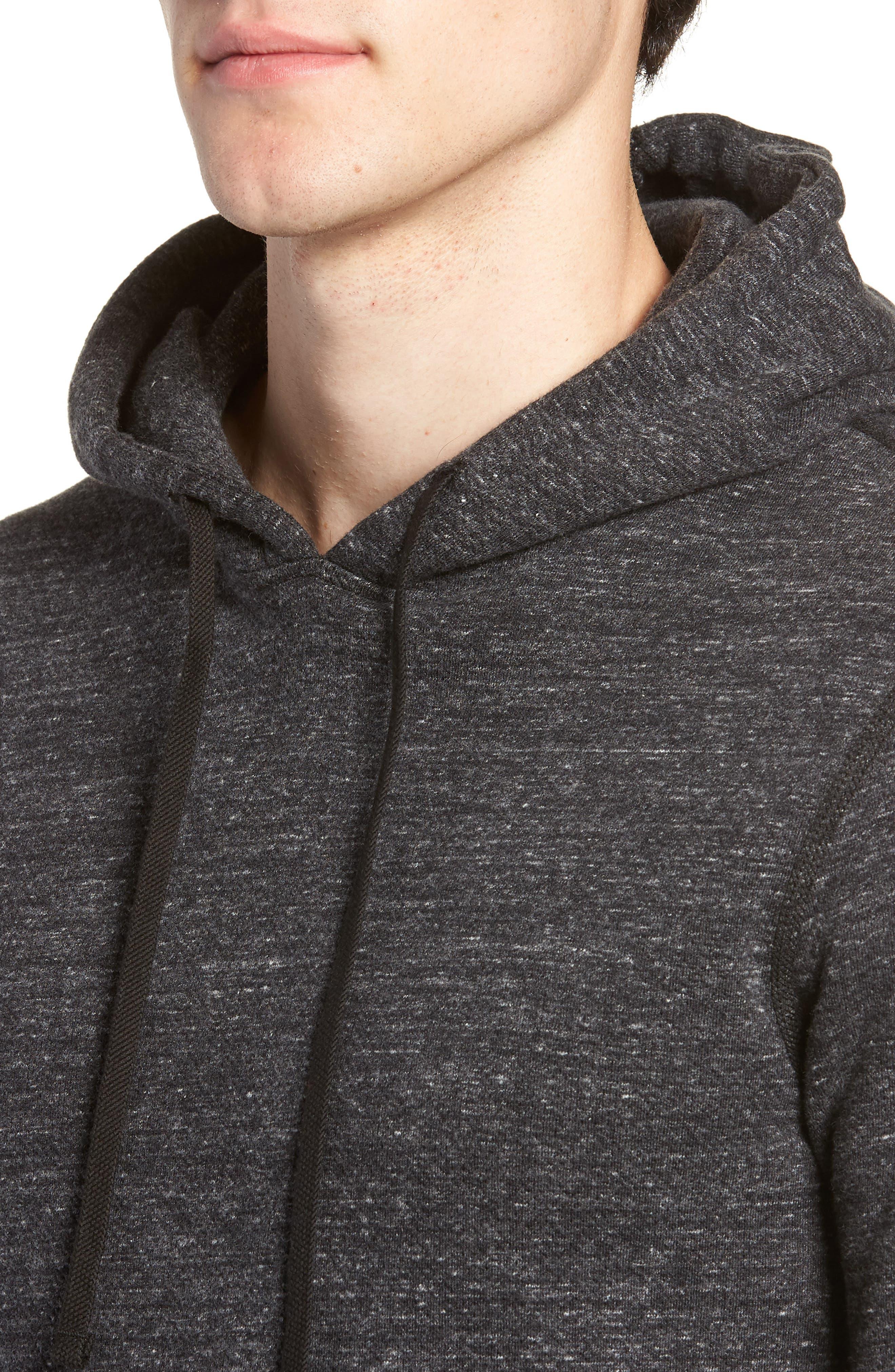 Trim Fit Side Zip Hooded Sweatshirt,                             Alternate thumbnail 4, color,                             020