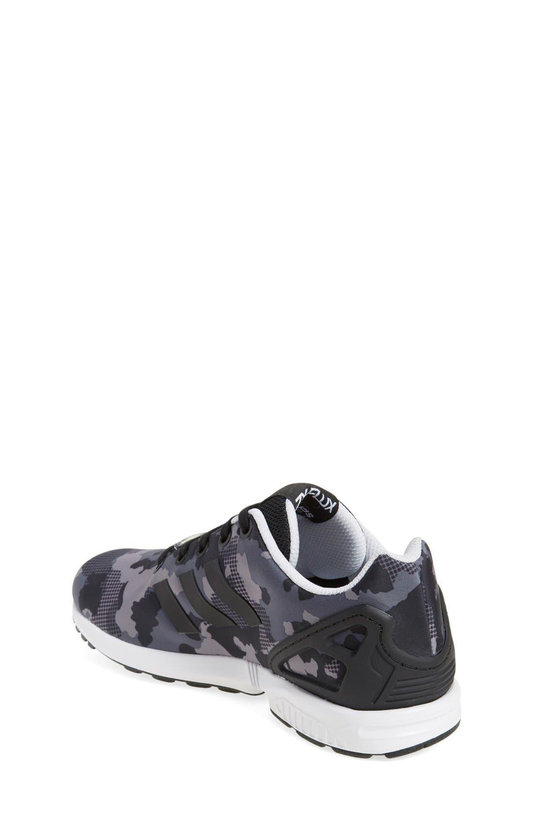'ZX Flux EL' Sneaker,                             Alternate thumbnail 6, color,                             001