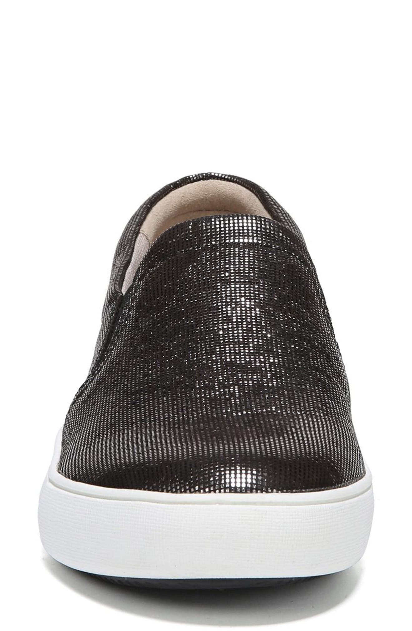 Marianne Slip-On Sneaker,                             Alternate thumbnail 4, color,                             DEEP SILVER PRINTED LEATHER