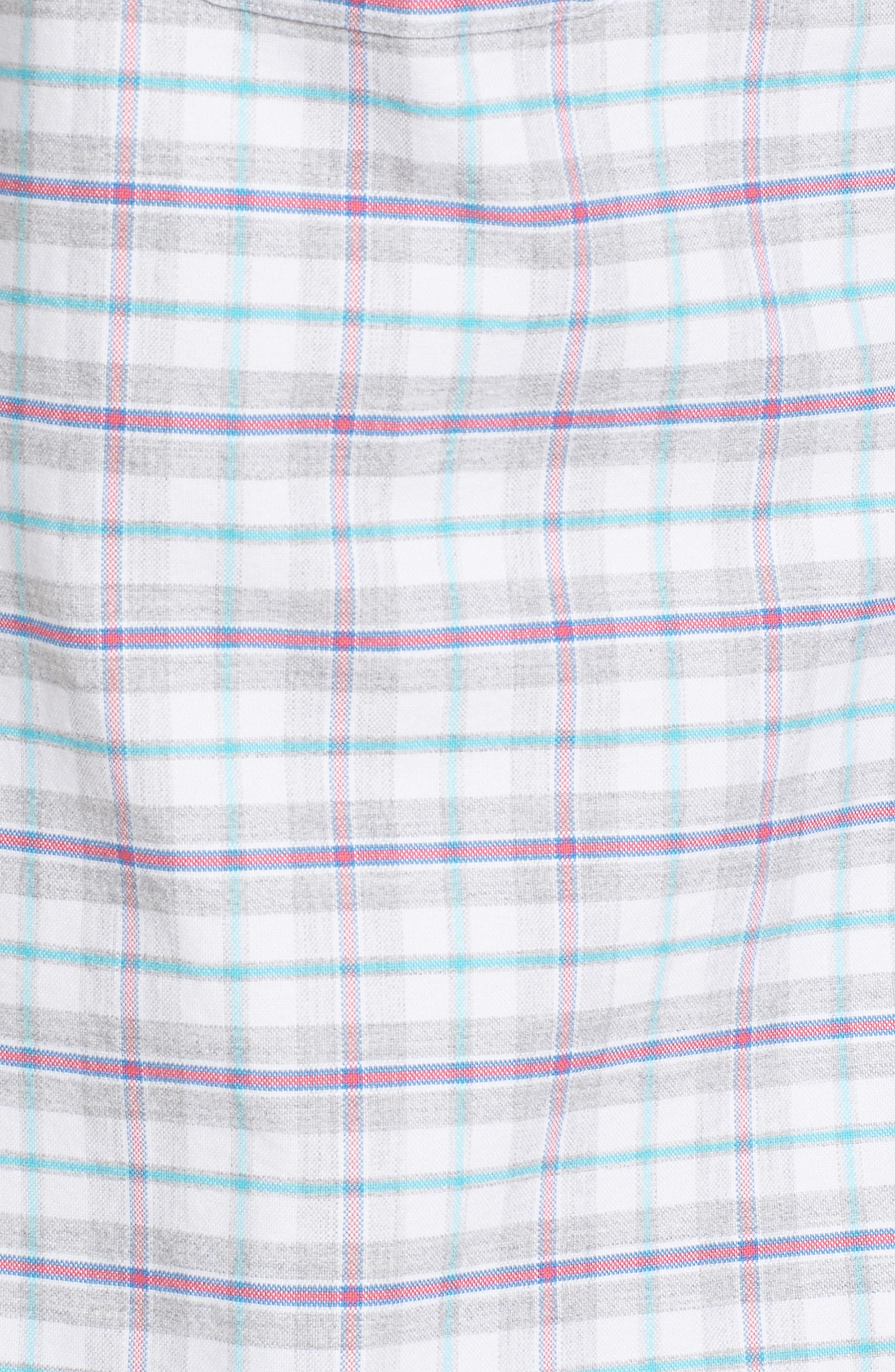 Lockwood Slim Fit Check Sport Shirt,                             Alternate thumbnail 5, color,                             678