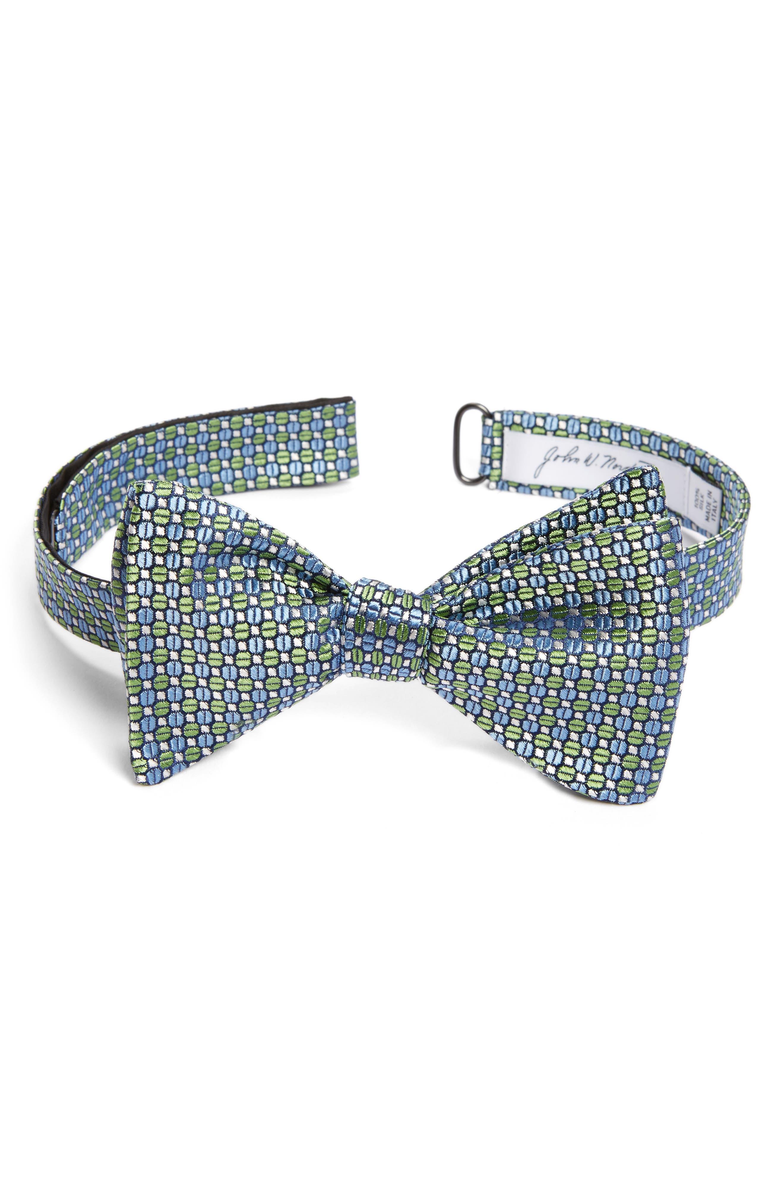 Geometric Silk Bow Tie,                         Main,                         color,