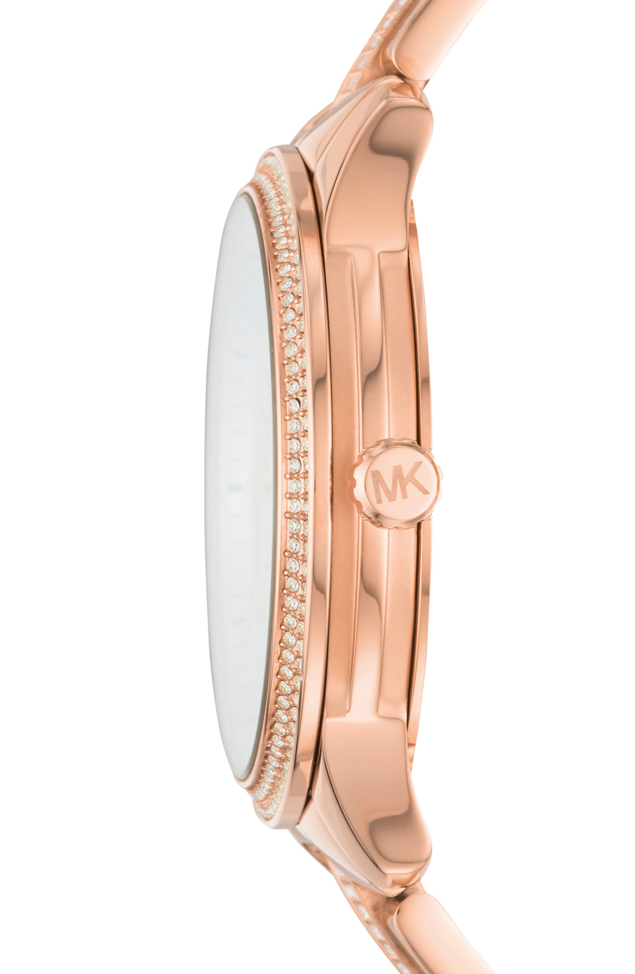 Runway Bracelet Watch, 38mm,                             Alternate thumbnail 2, color,                             ROSE GOLD