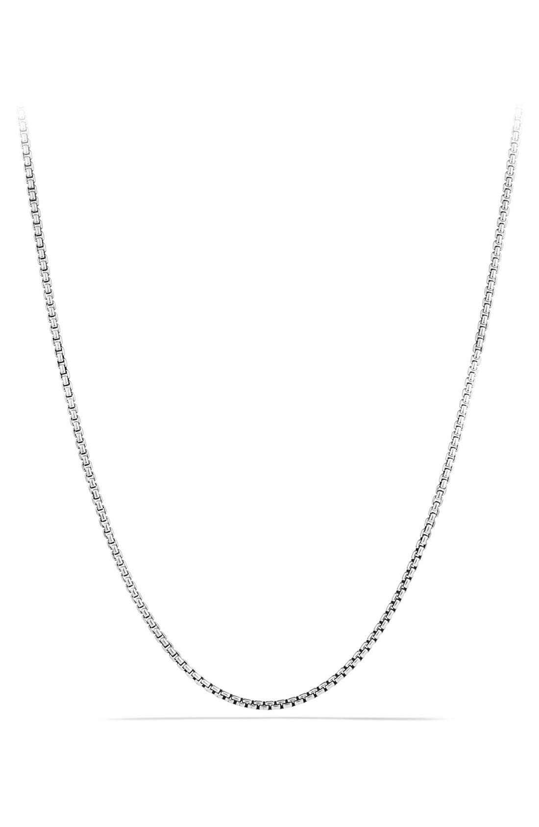 'Chain' Small Box Chain Necklace,                             Main thumbnail 1, color,                             SILVER