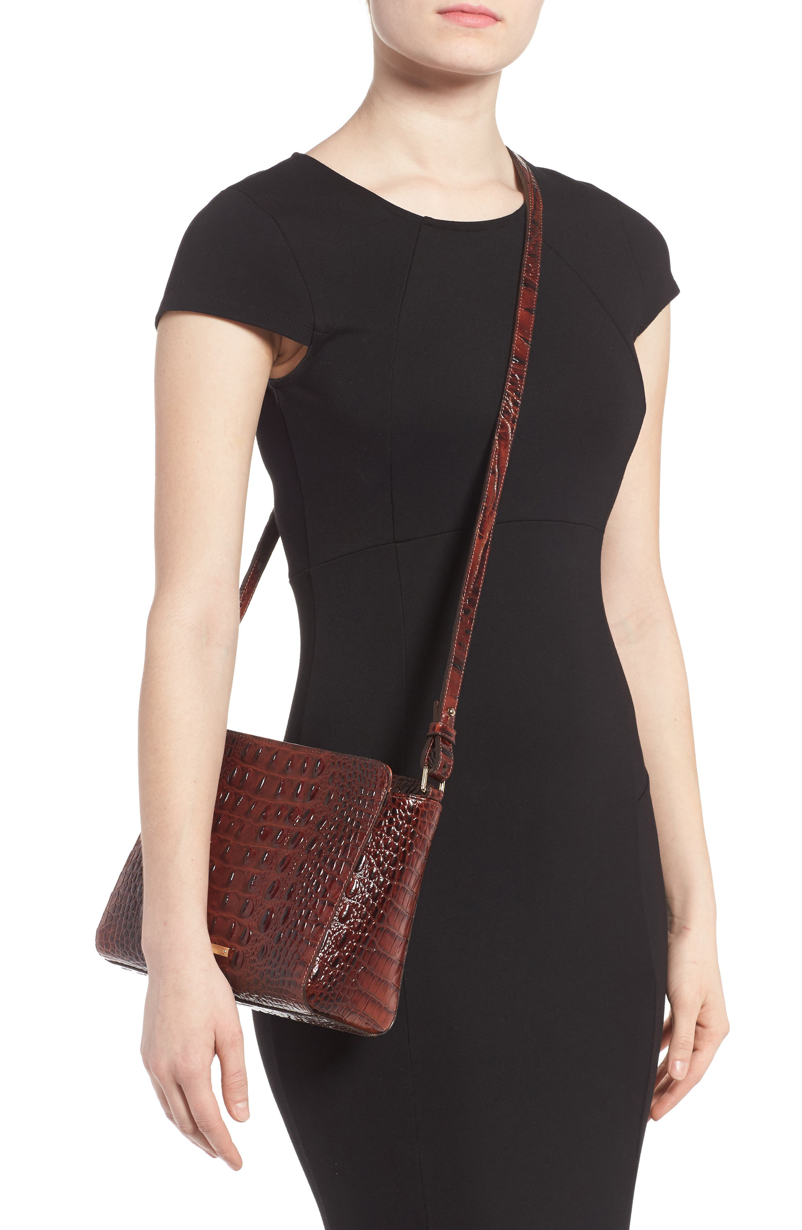 Melbourne Carrie Leather Crossbody Bag,                             Alternate thumbnail 5, color,