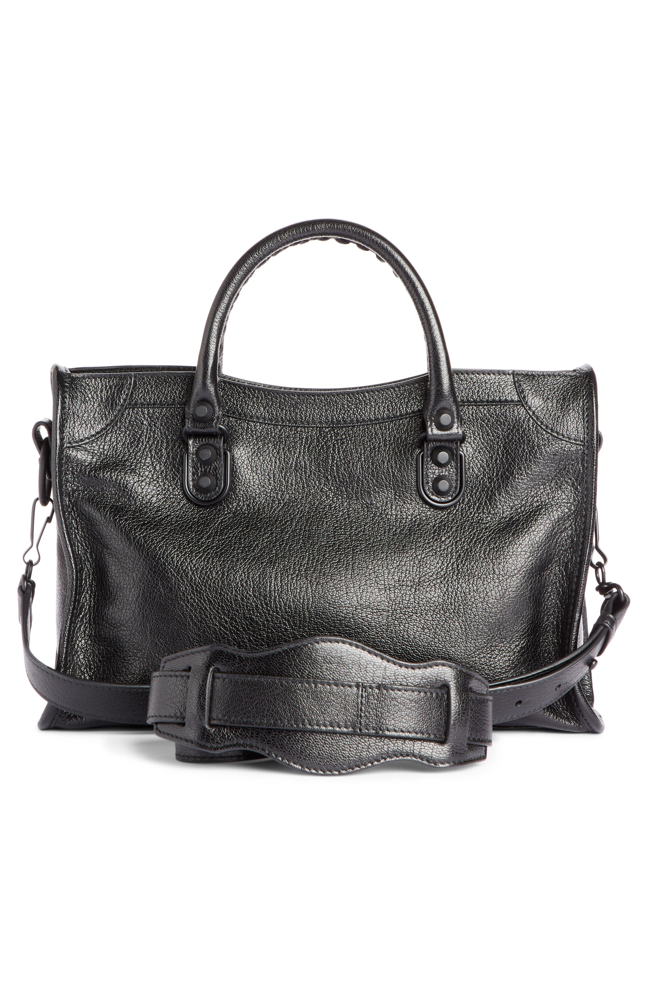 Small Classic City Leather Tote,                             Alternate thumbnail 2, color,                             001