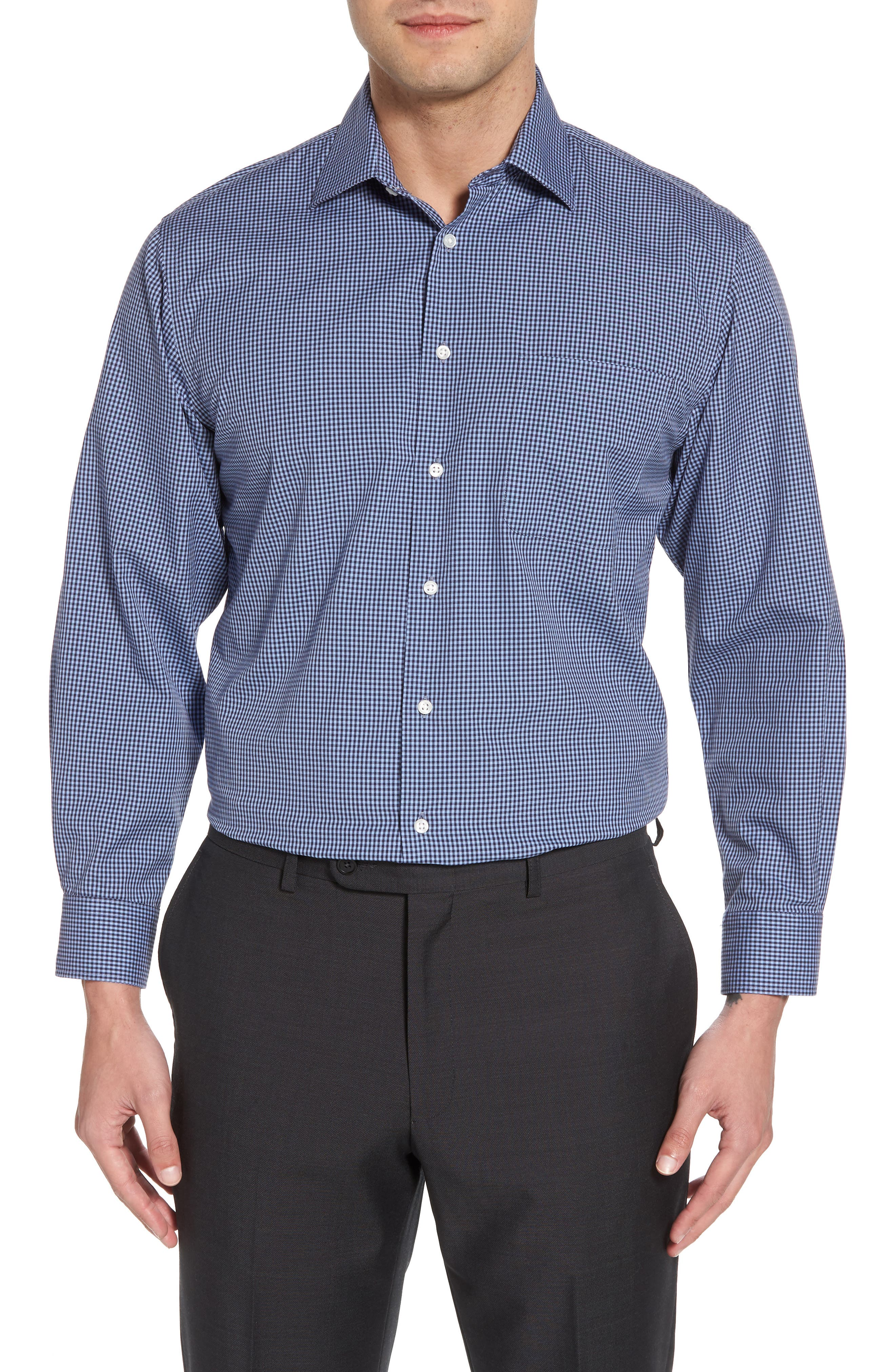 Smartcare<sup>™</sup> Traditional Fit Check Dress Shirt,                             Main thumbnail 2, color,
