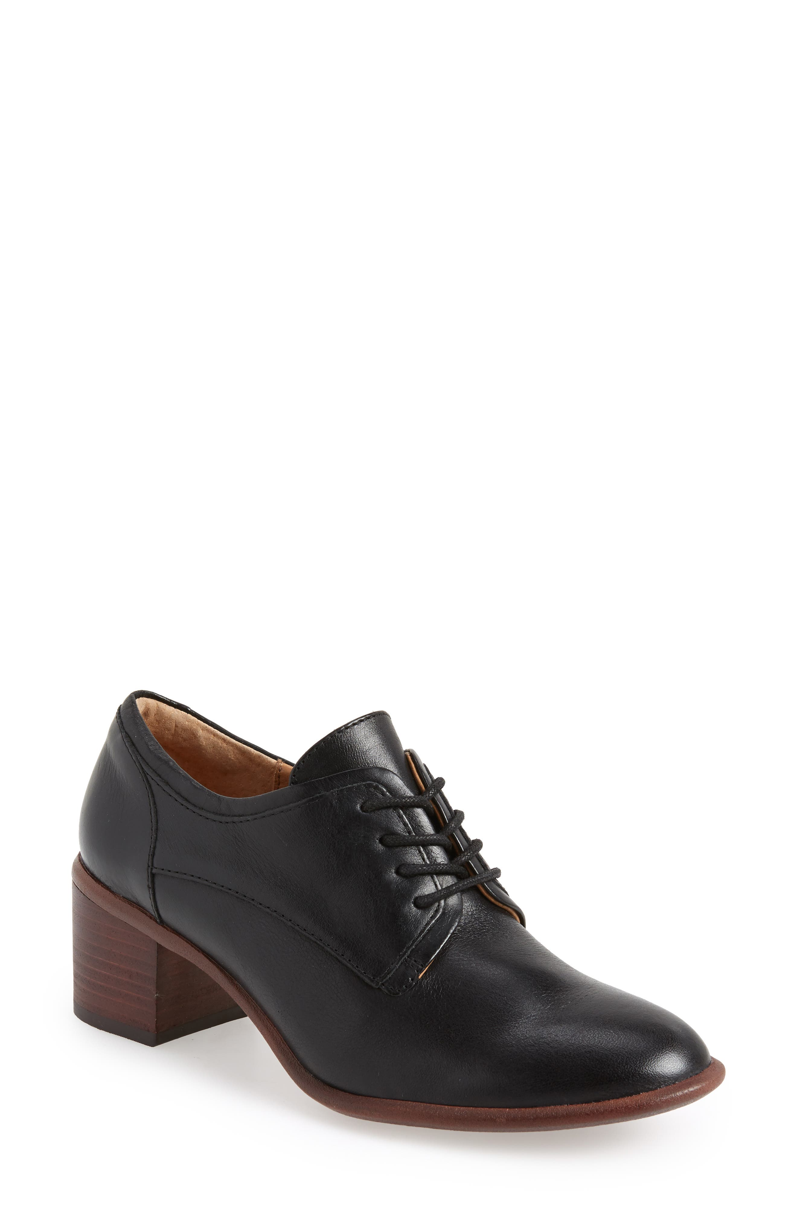 Patience Derby,                         Main,                         color, BLACK LEATHER