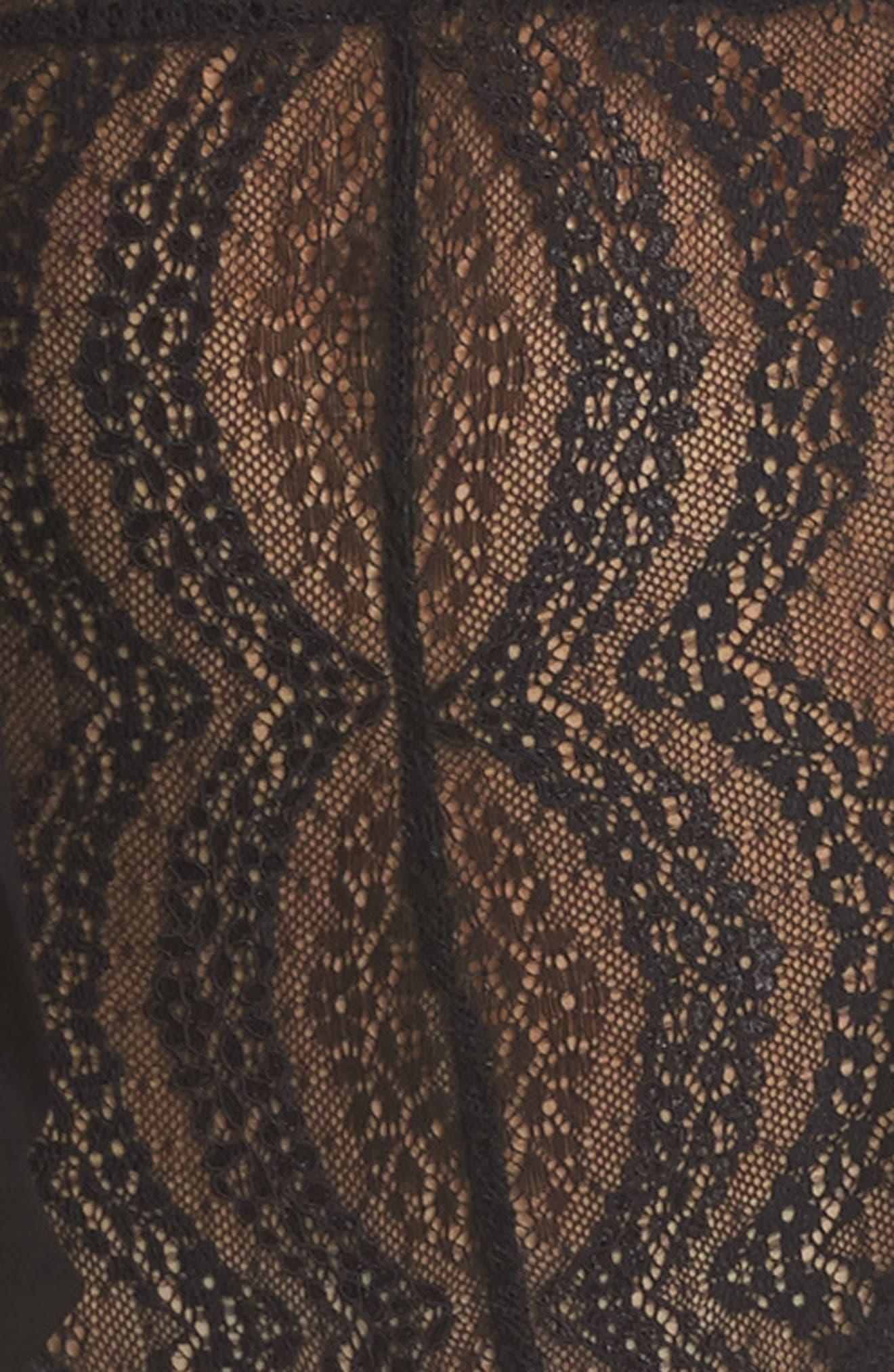 Eva Lace Ruffle Bodysuit,                             Alternate thumbnail 5, color,                             002