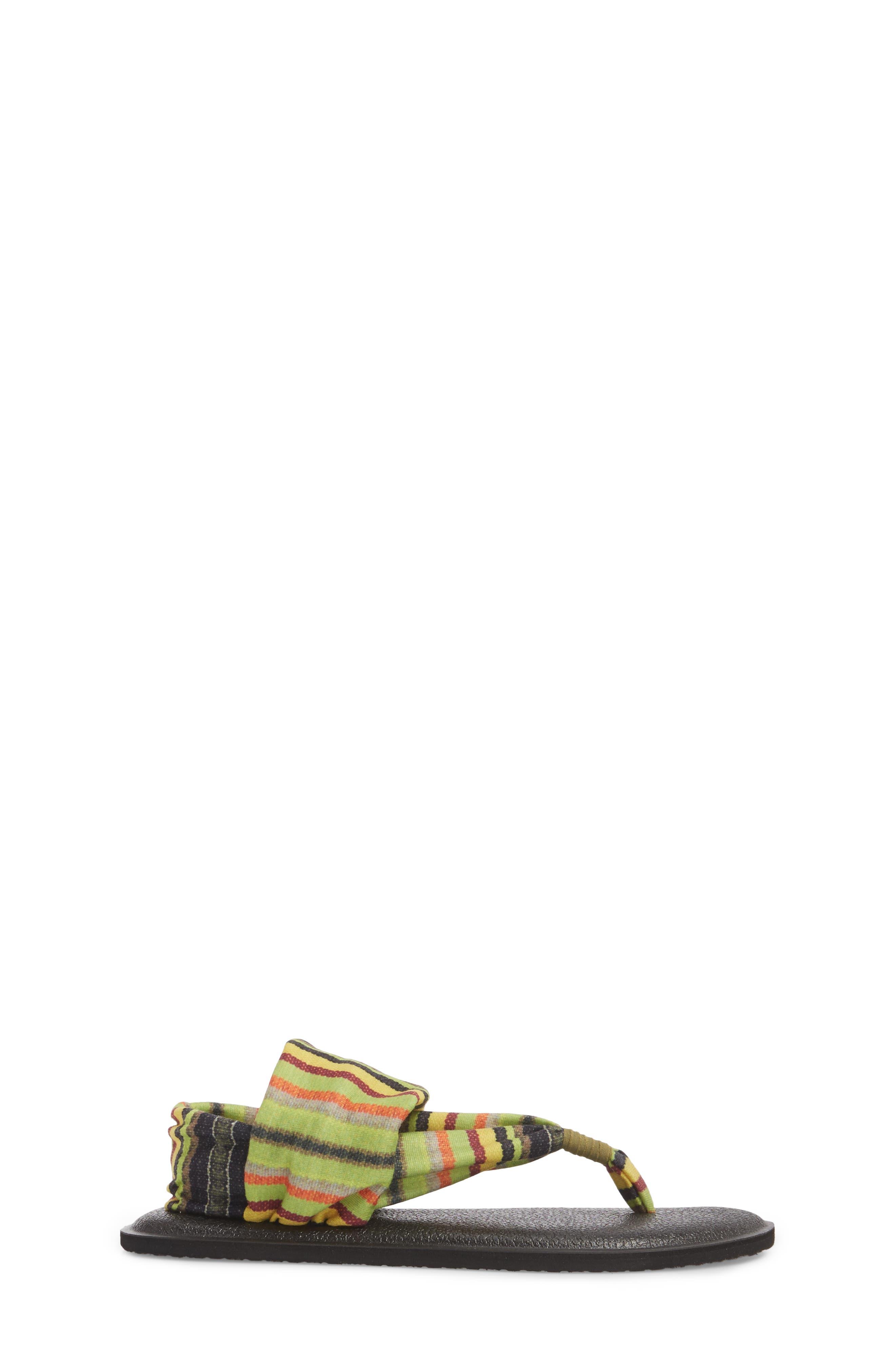 Yoga Sling Burst Sandal,                             Alternate thumbnail 3, color,                             GREEN KAUAI BLANKET
