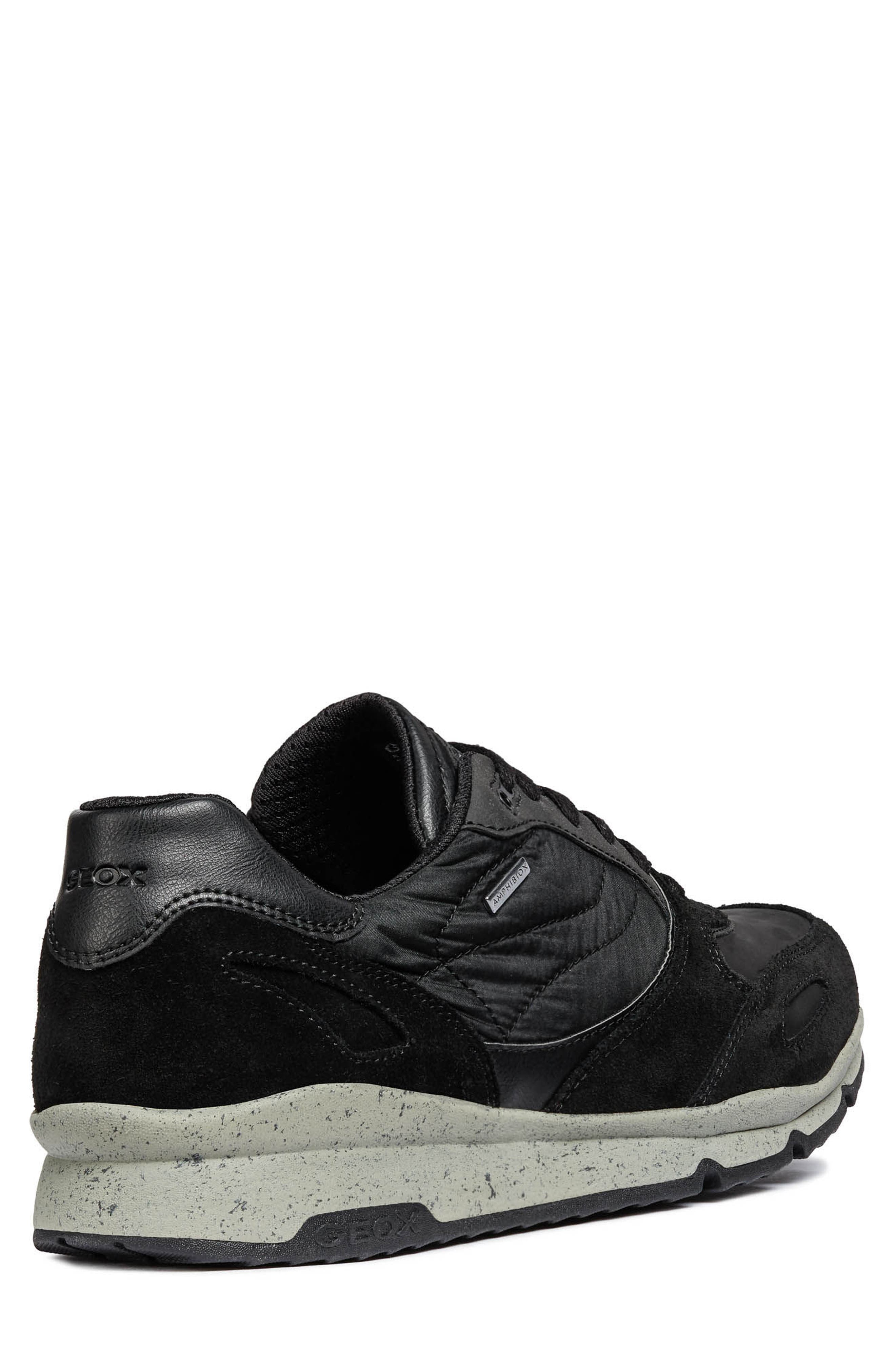 Sandro ABX Ambphibiox Waterproof Sneaker,                             Alternate thumbnail 2, color,                             BLACK/ BLACK LEATHER
