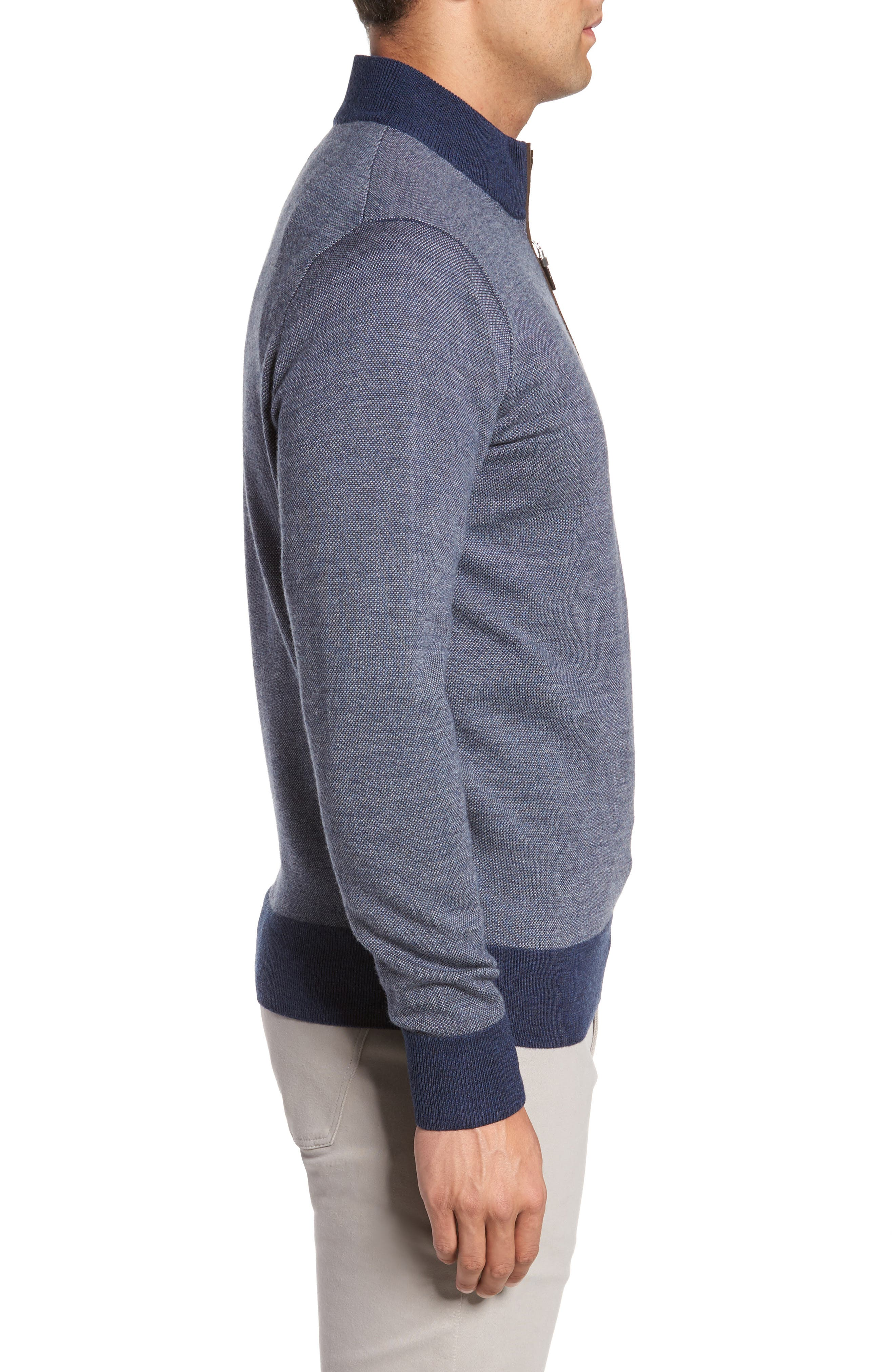 Quarter Zip Wool Pullover,                             Alternate thumbnail 3, color,                             415