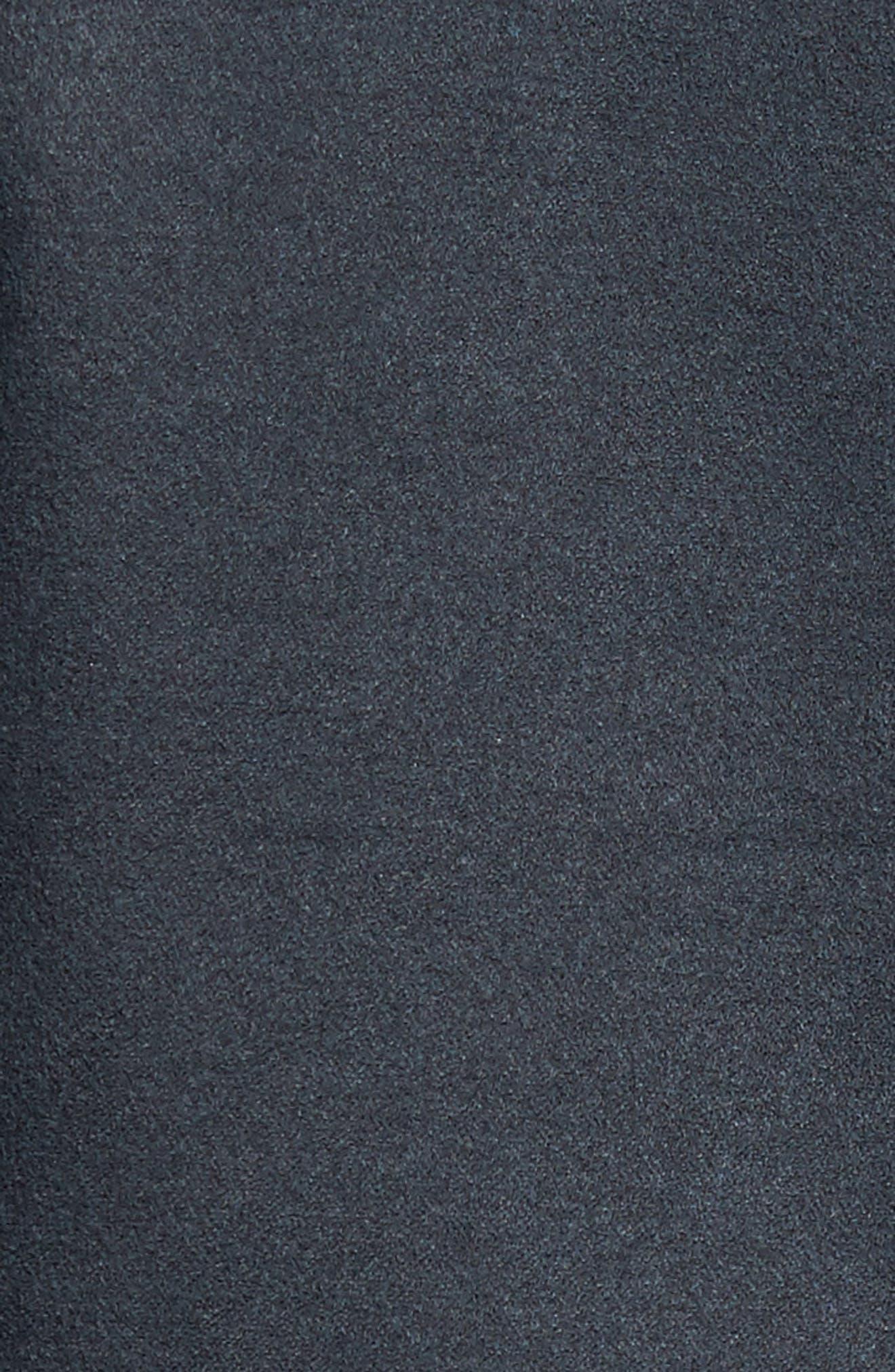 'Colt' Regular Fit Sueded Cotton Blend Shirt Jacket,                             Alternate thumbnail 5, color,                             INKWELL