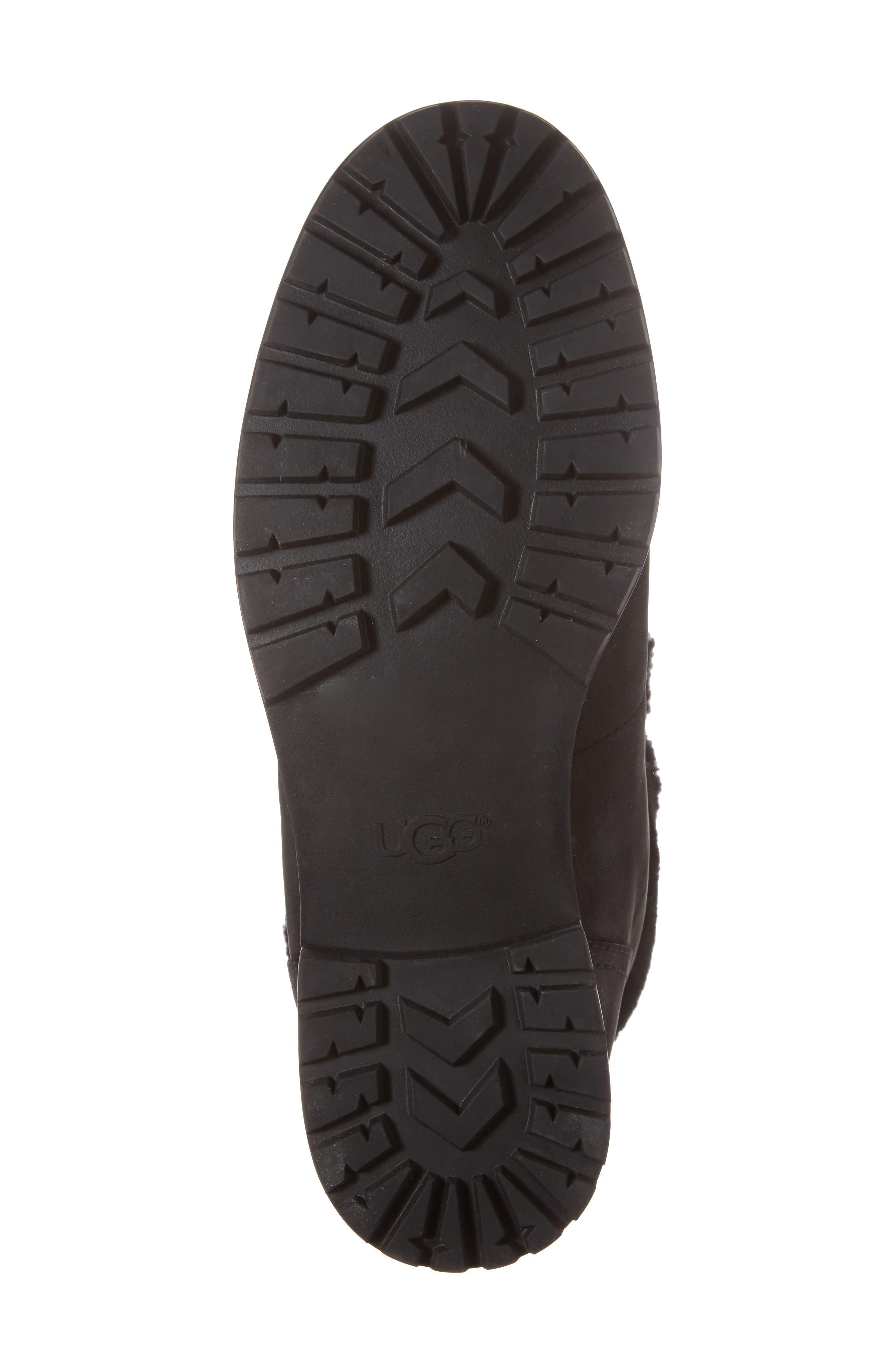 Fraser Genuine Shearling Water Resistant Boot,                             Alternate thumbnail 6, color,                             001
