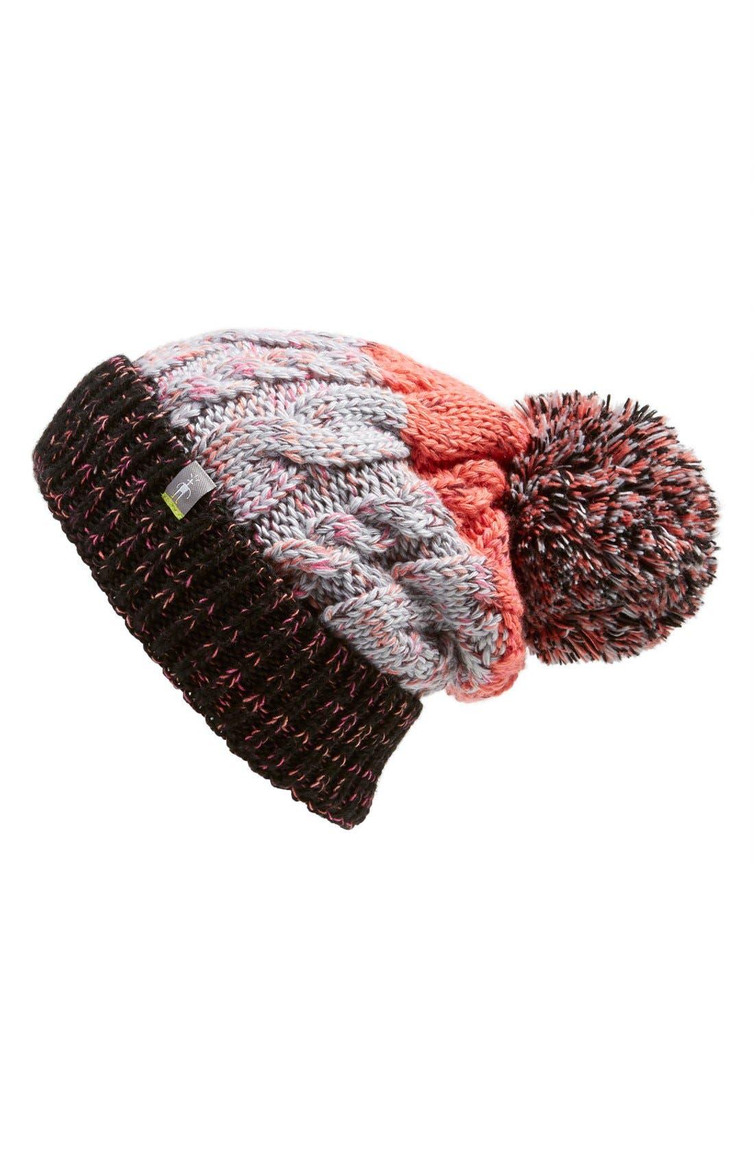 'Isto Retro' Merino Wool Blend Beanie, Main, color, 001