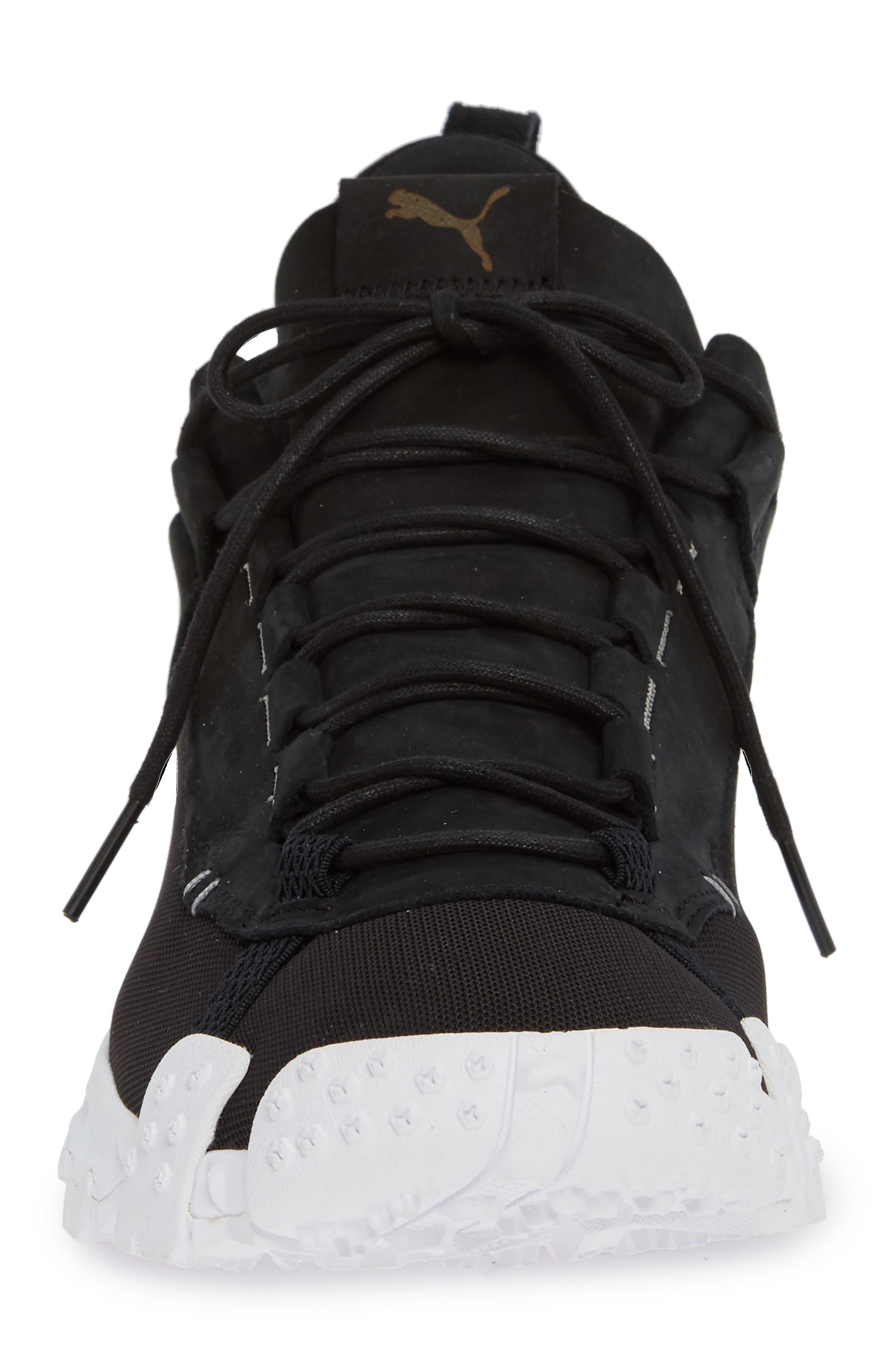 Trailfox Sneaker,                             Alternate thumbnail 4, color,                             BLACK/ WHITE